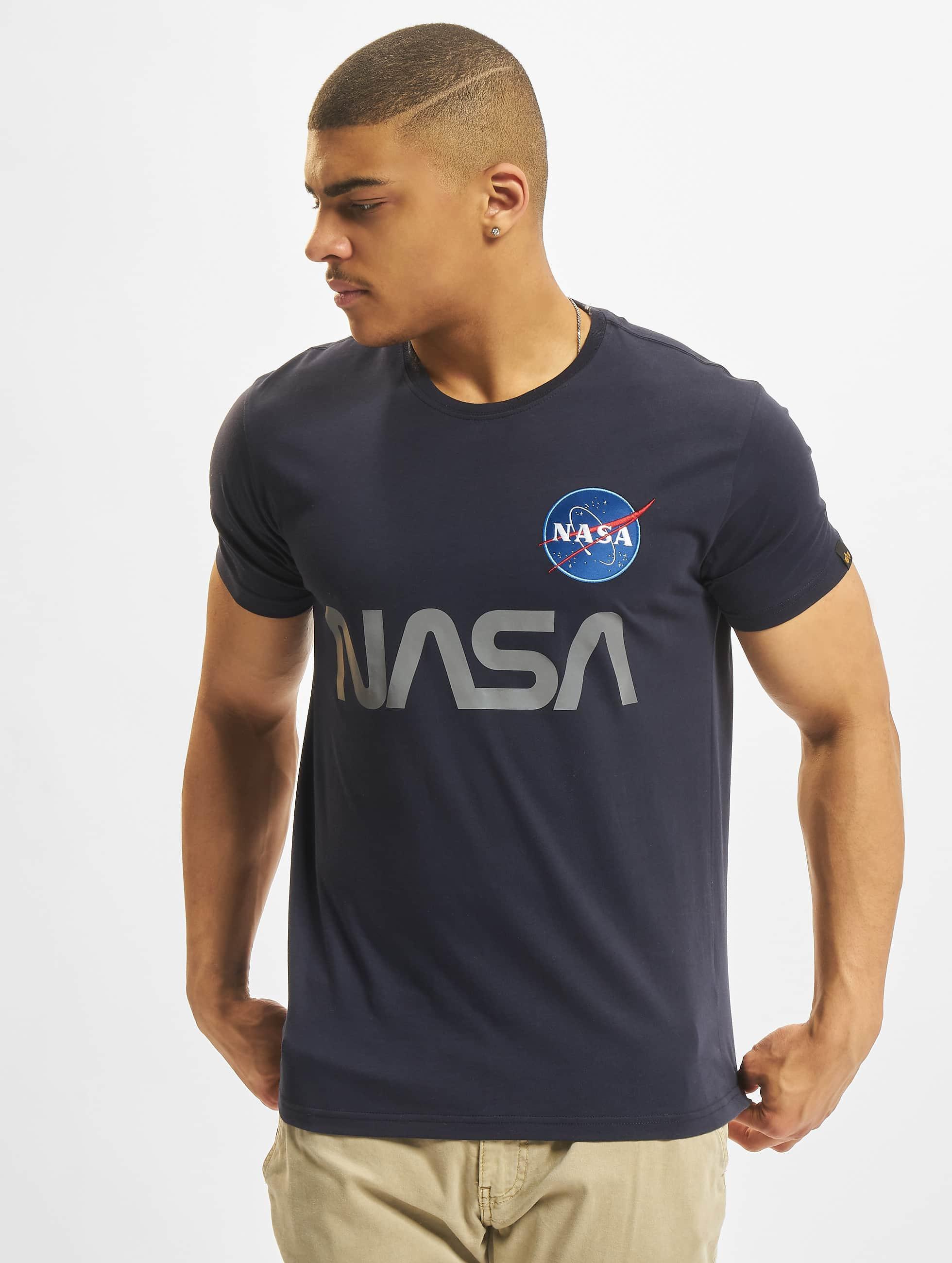 Alpha Industries Camiseta NASA Reflective azul