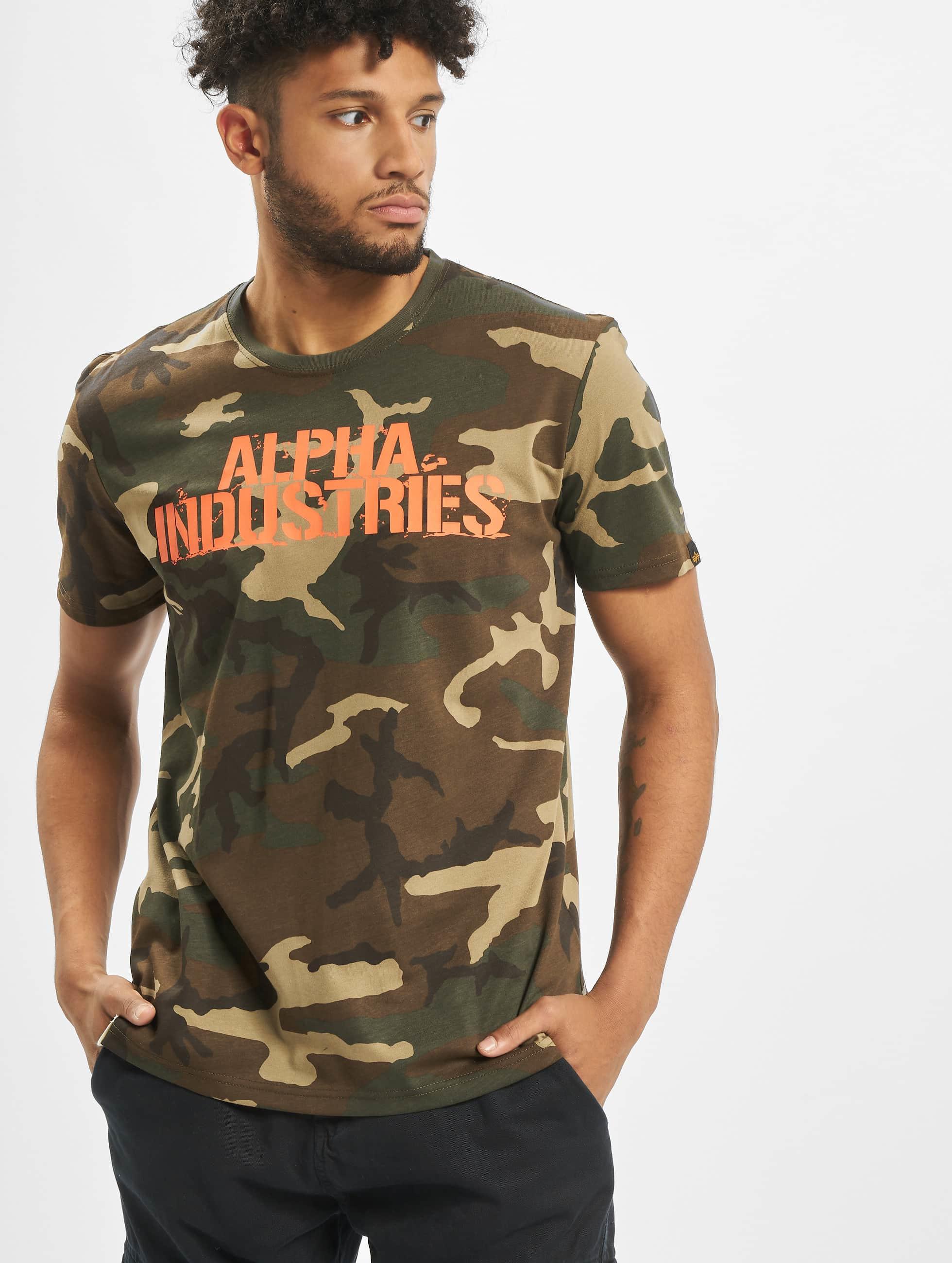 Alpha Industries Camiseta Blurred camuflaje