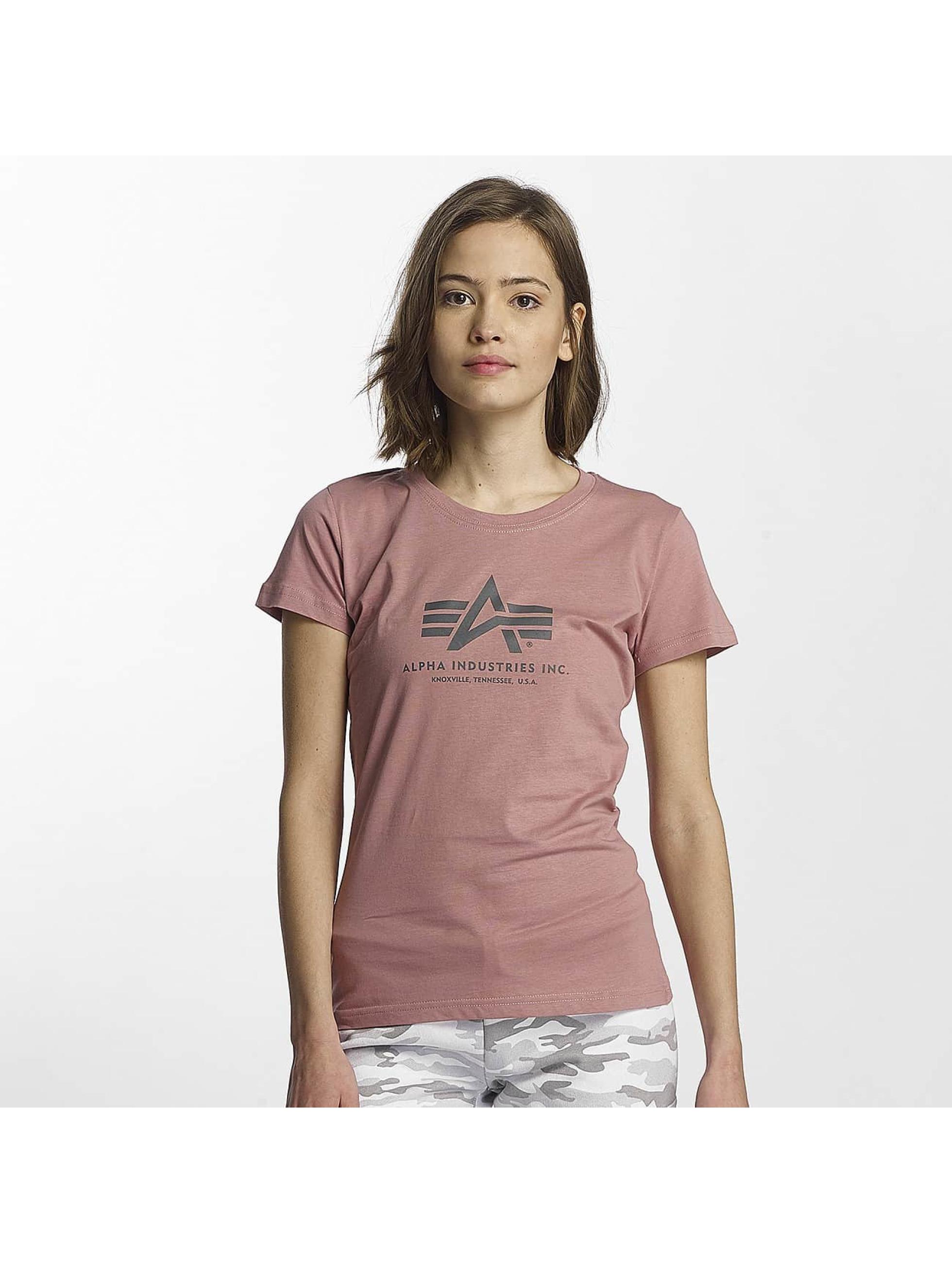 Alpha Industries Camiseta Logo fucsia