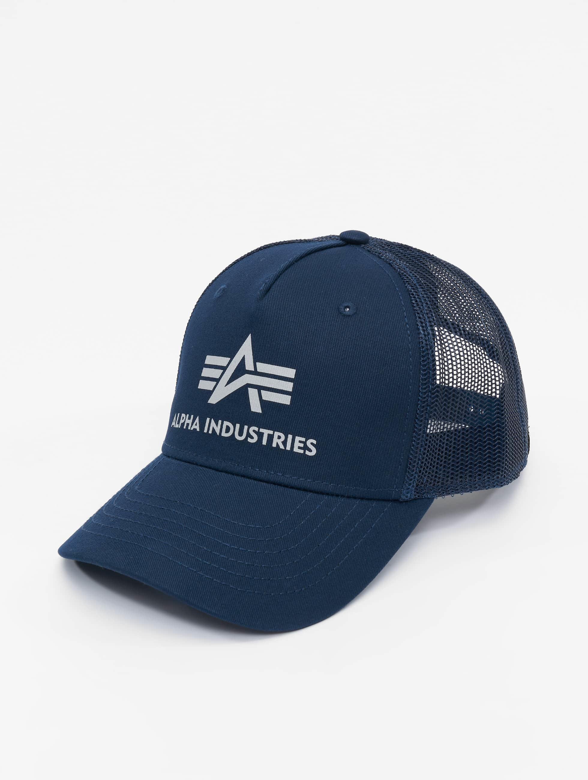 Alpha Industries Casquette Trucker mesh Basic bleu