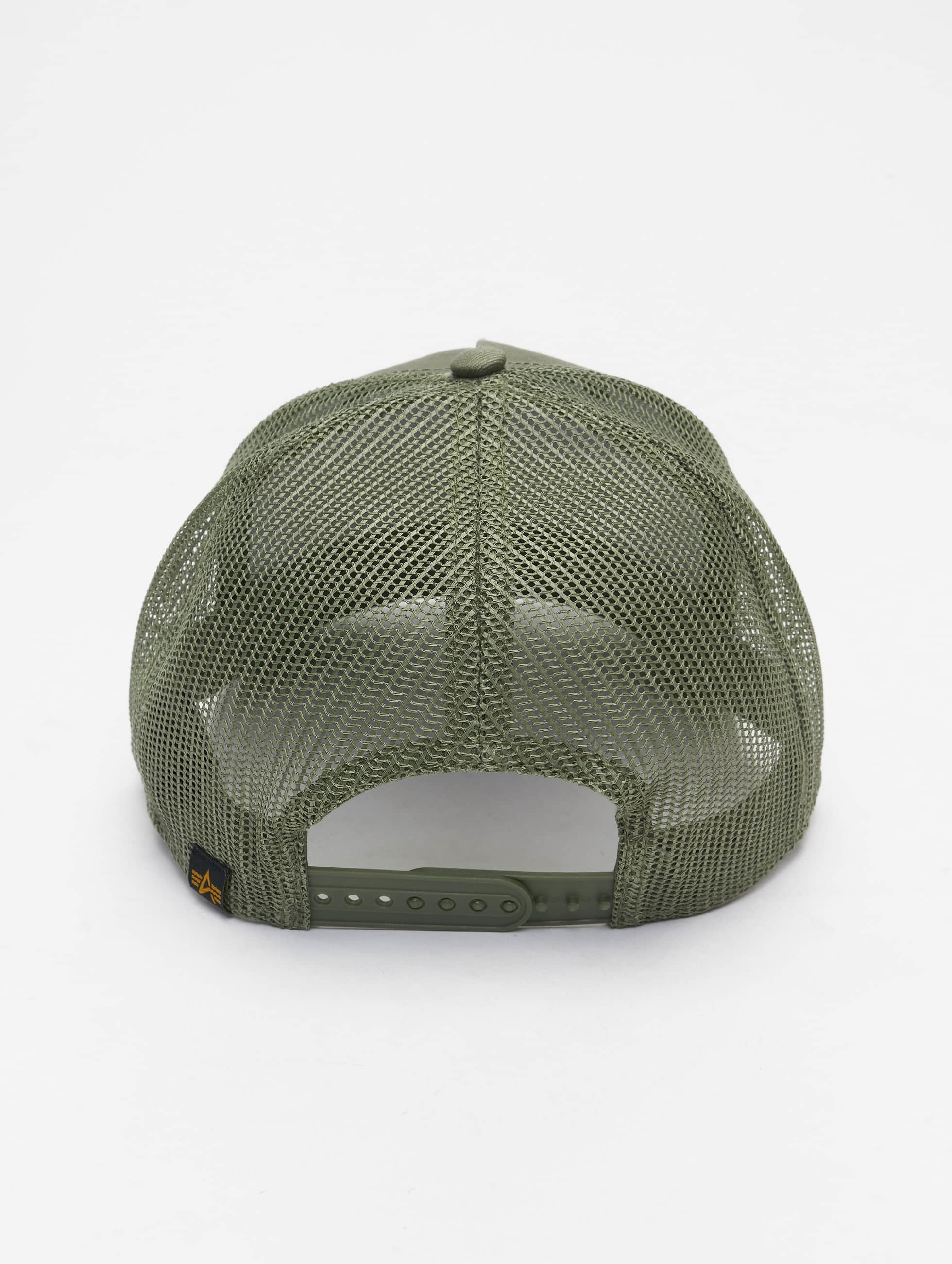 Alpha Industries Casquette Trucker mesh Basic vert
