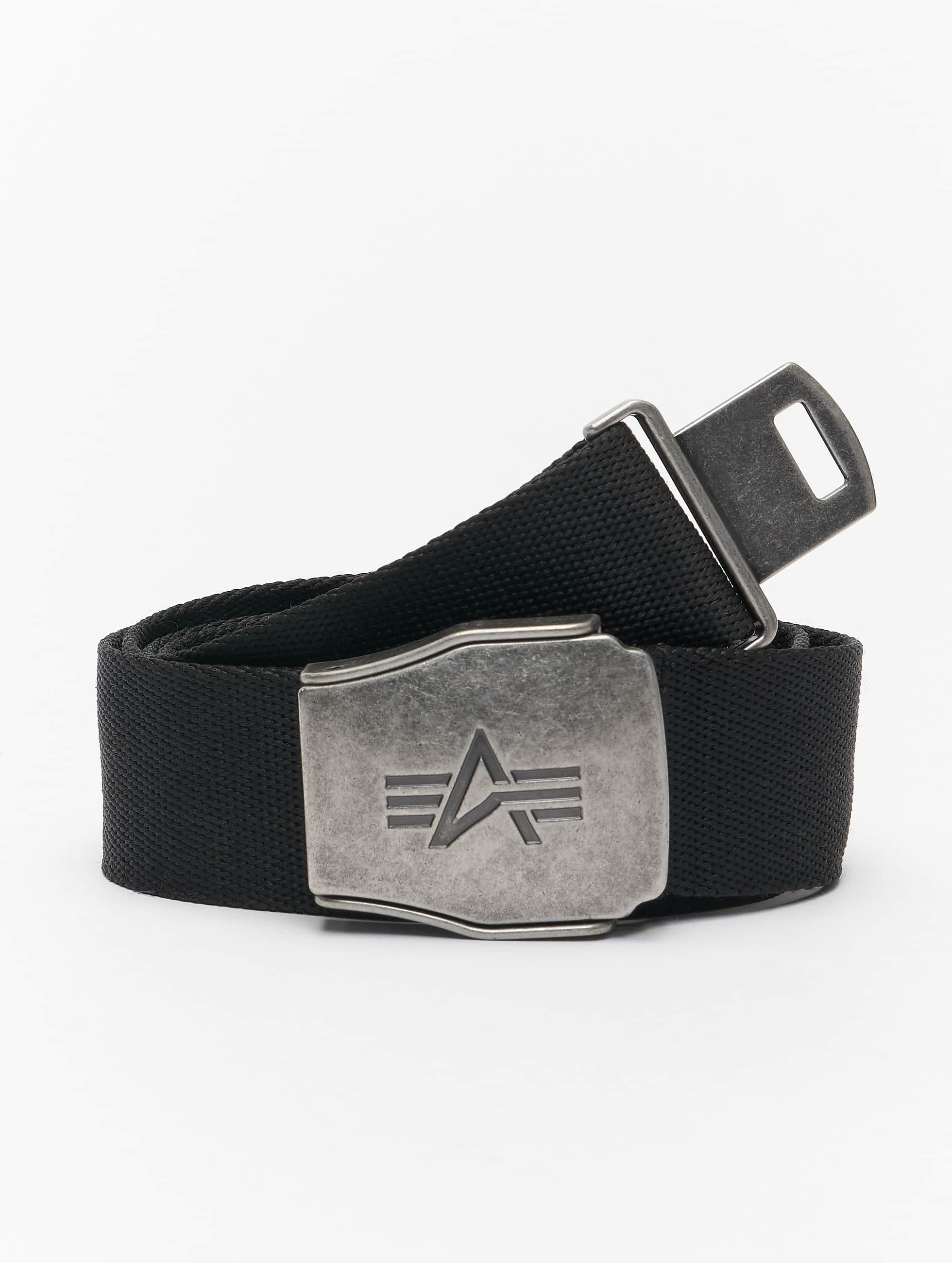 Alpha Industries Ceinture Buckle Belt noir