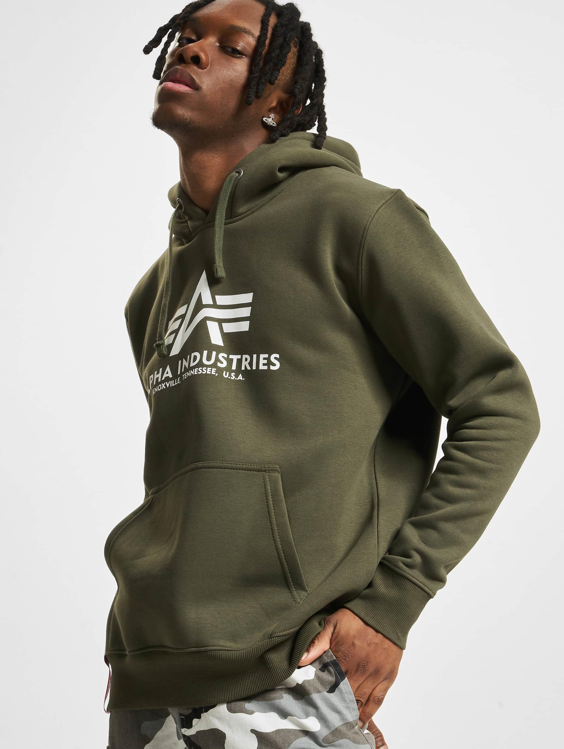 Alpha Industries Hoodie Basic green
