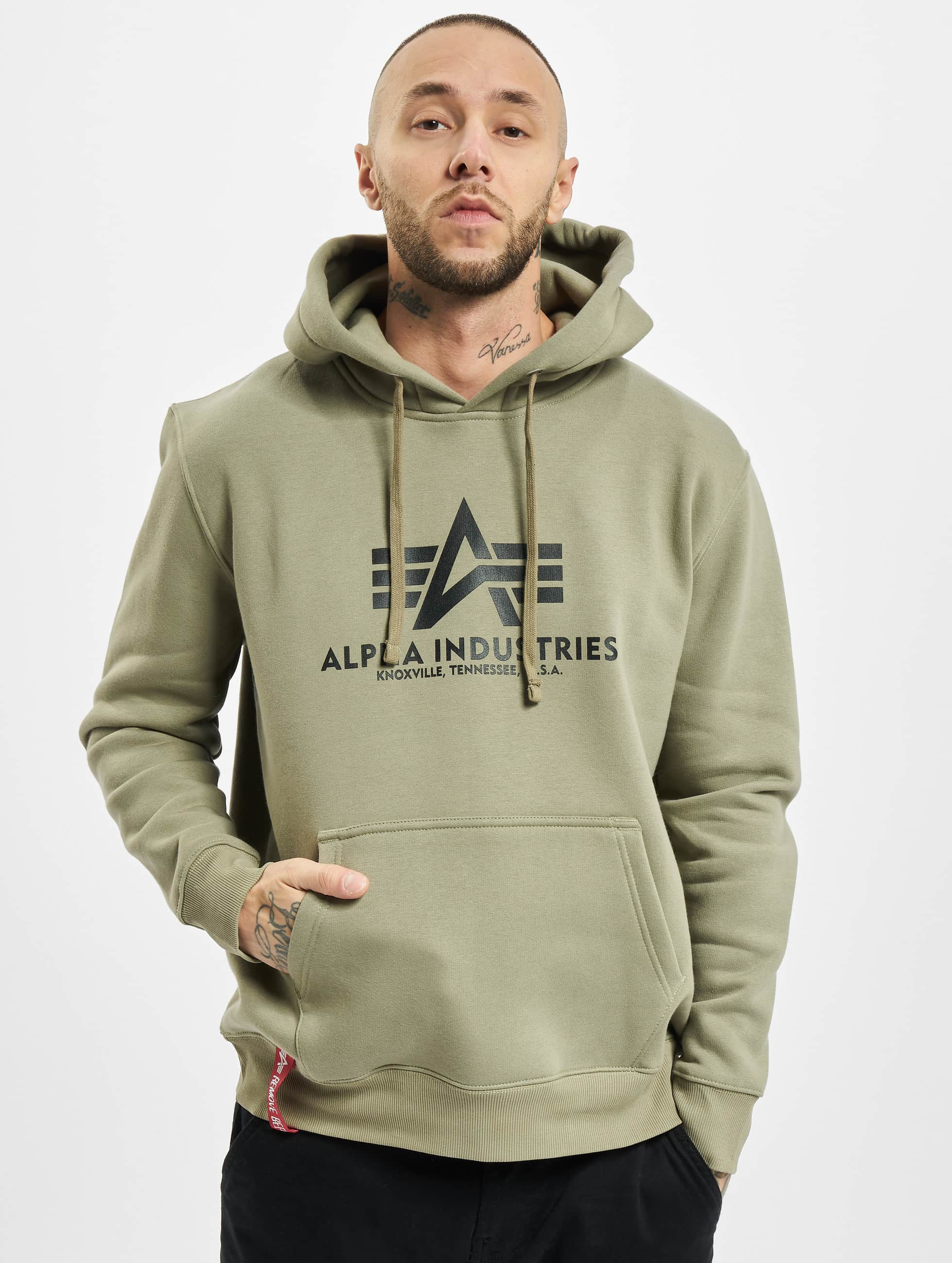 Alpha Industries Hoodie Basic olive