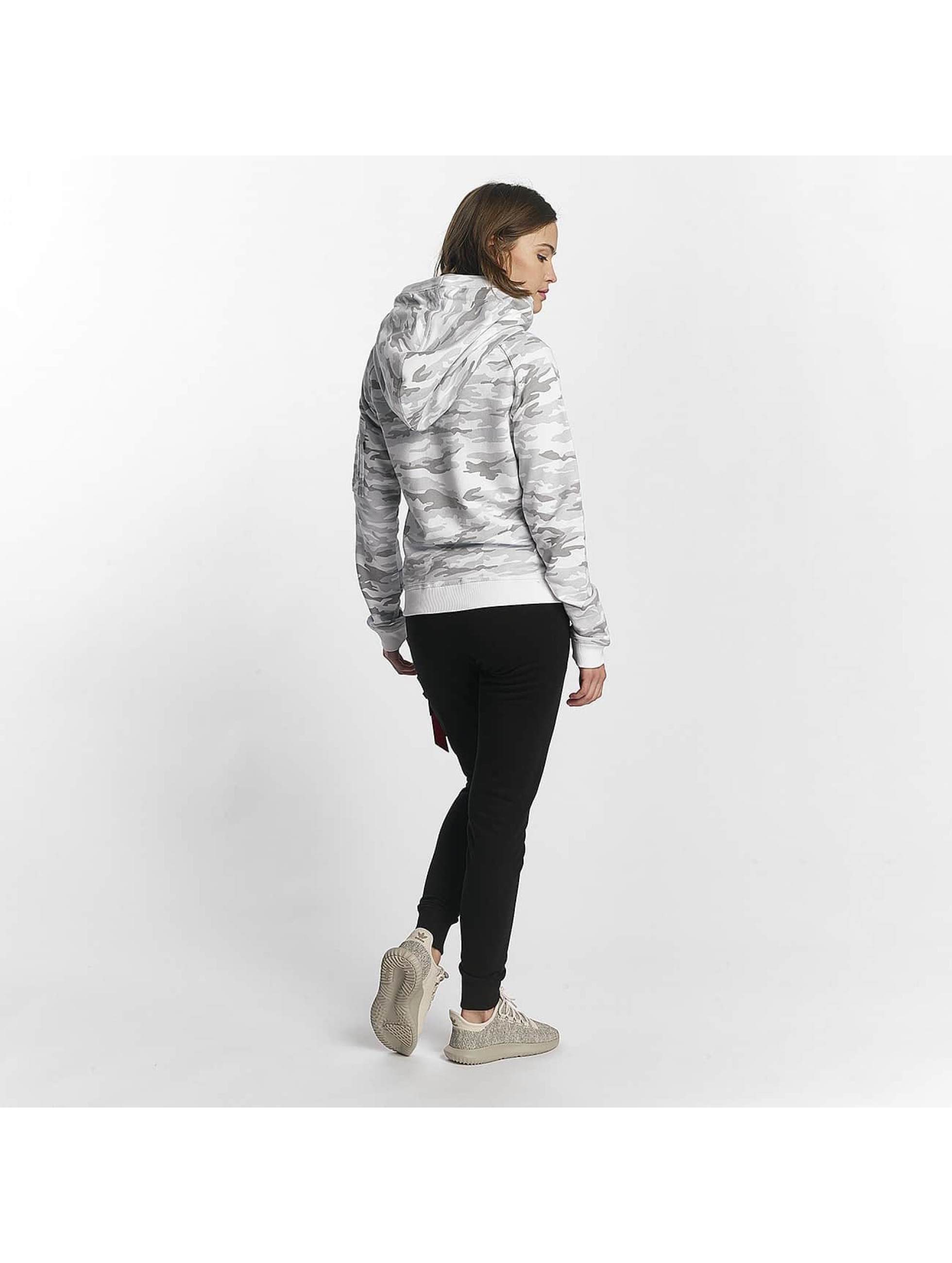 Alpha Industries Hoodie X-Fit white