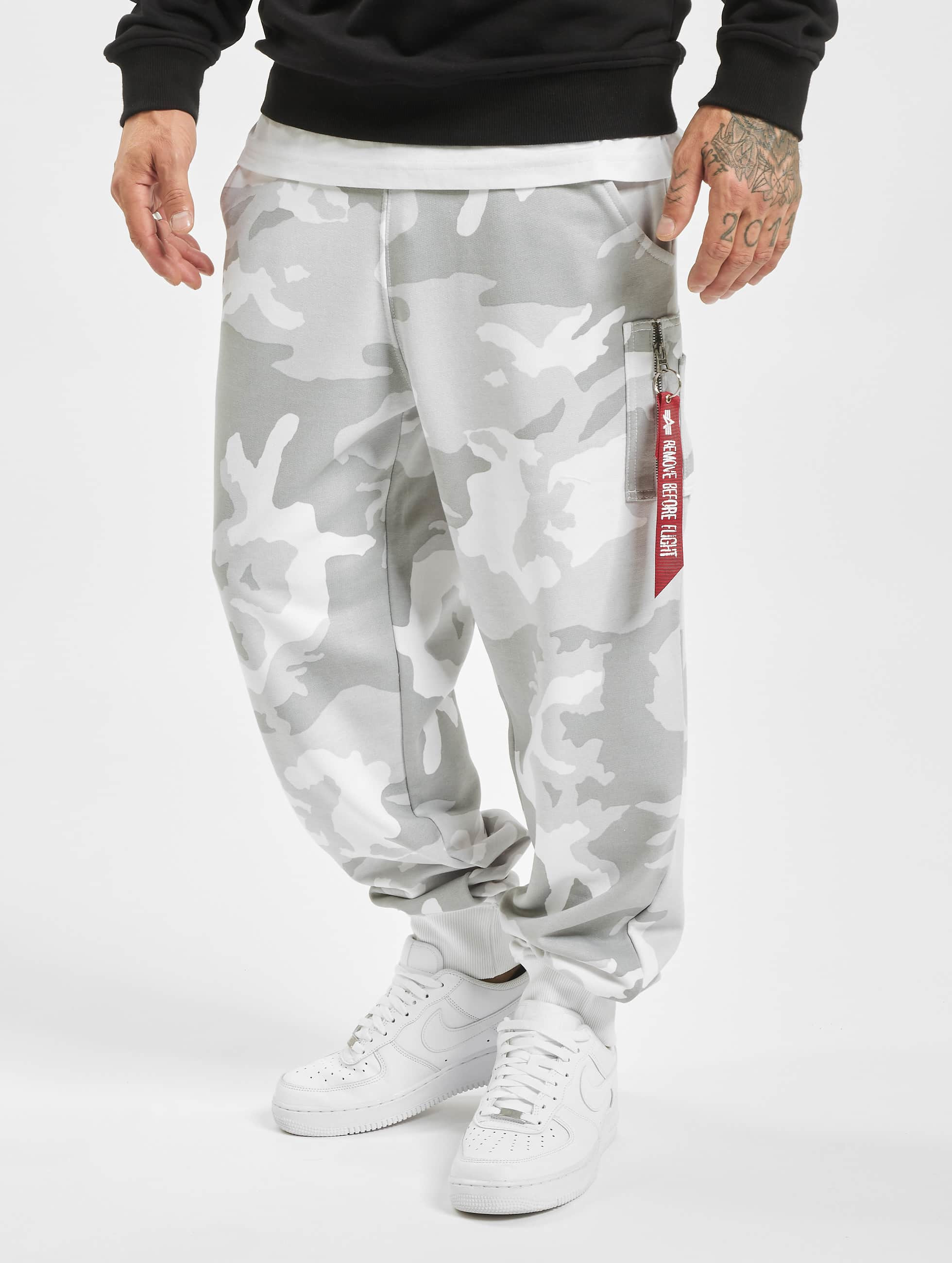 Alpha Industries Joggebukser X-Fit hvit