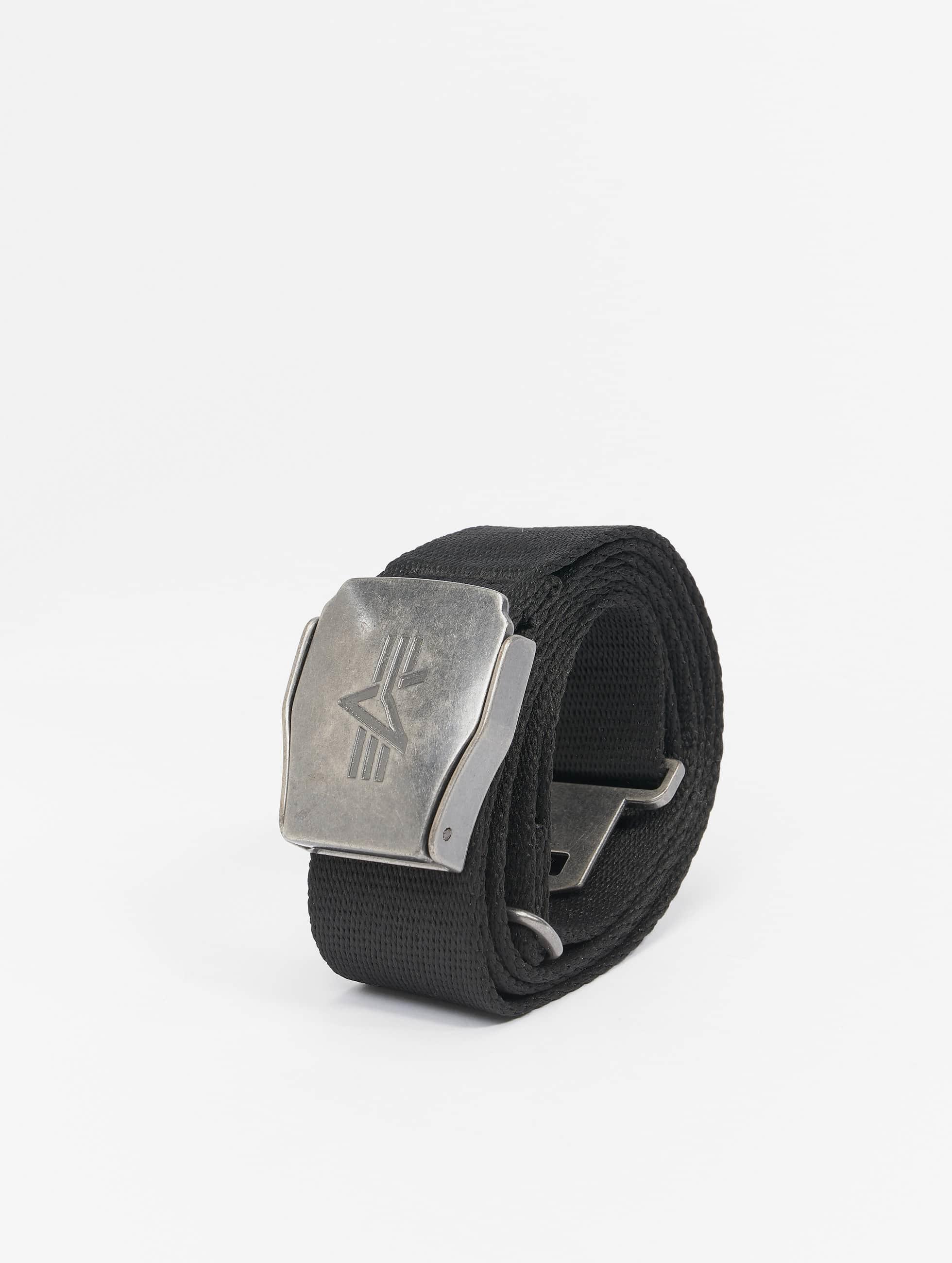 Alpha Industries Paski Buckle Belt czarny