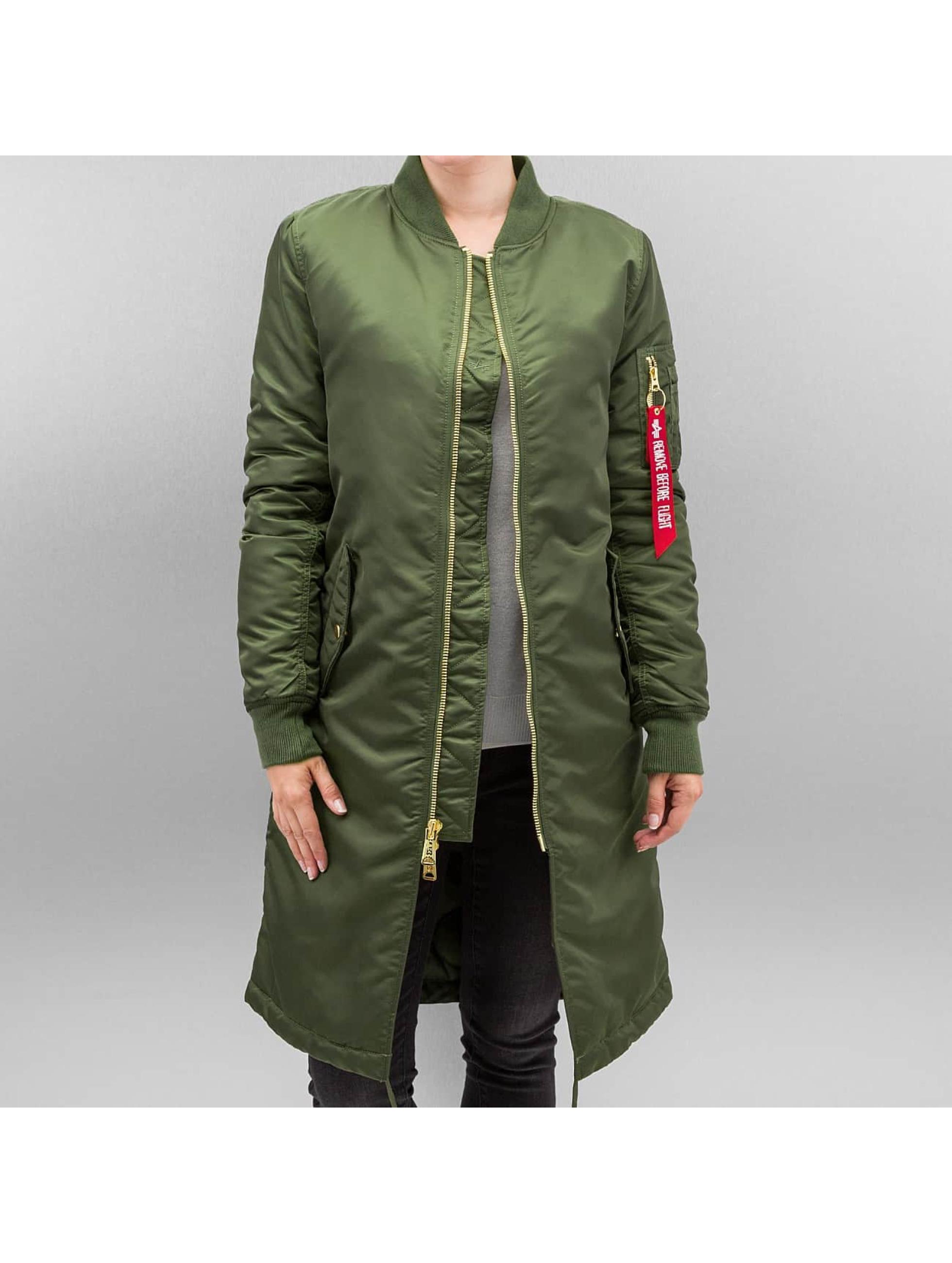 Alpha Industries Pilottitakit MA-1 Coat B3 vihreä