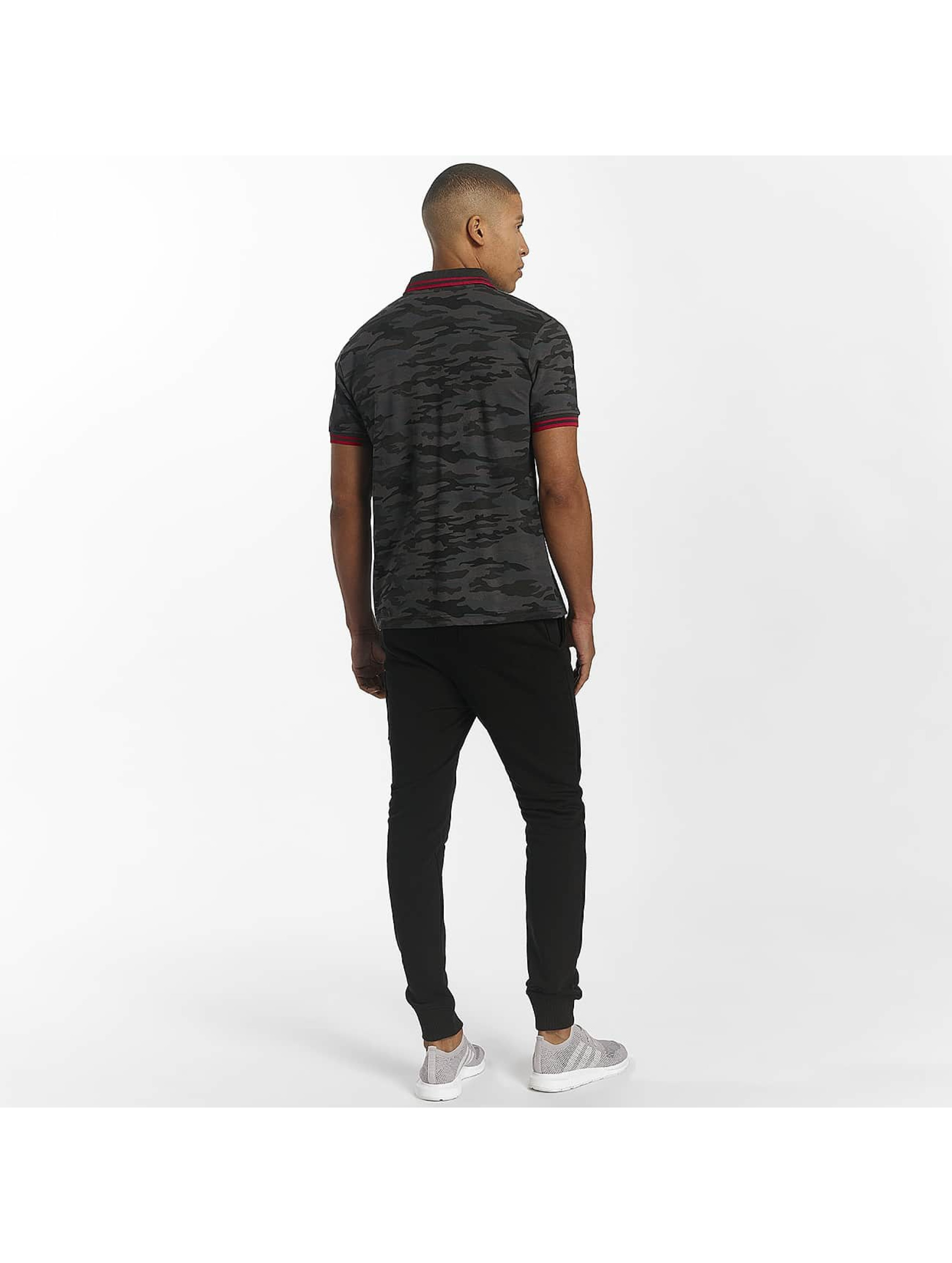 Alpha Industries Poloshirt Twin Stripe Camo schwarz