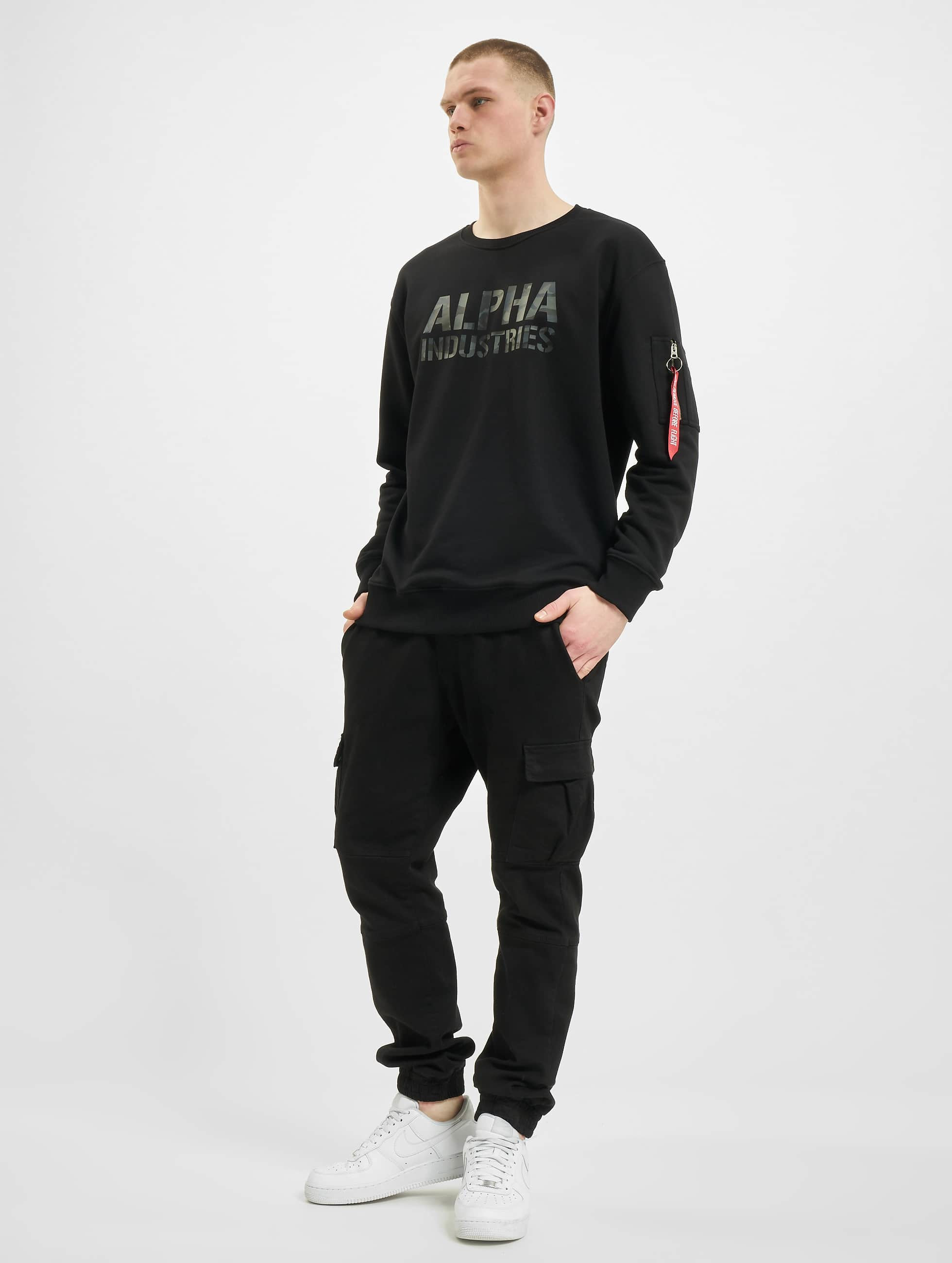 Alpha Industries Pullover Camo Print black