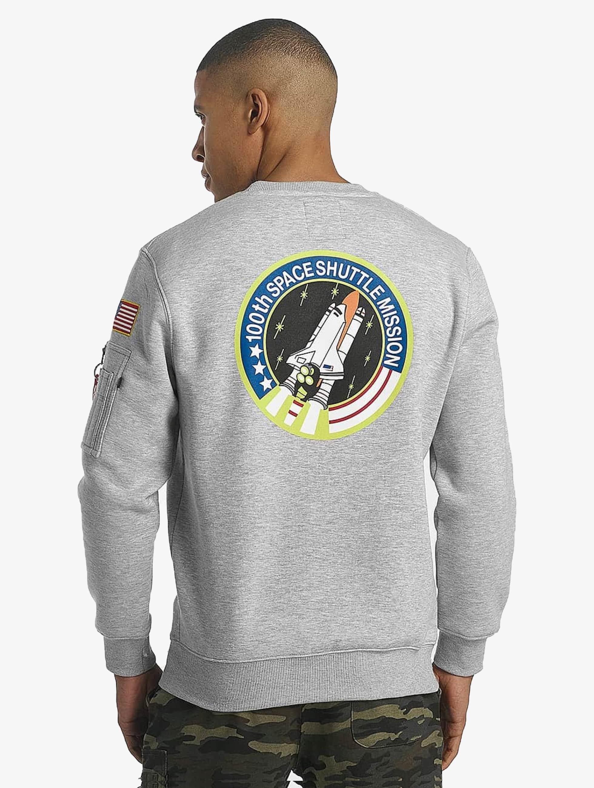 Alpha Industries Pullover Space Shuttle grau