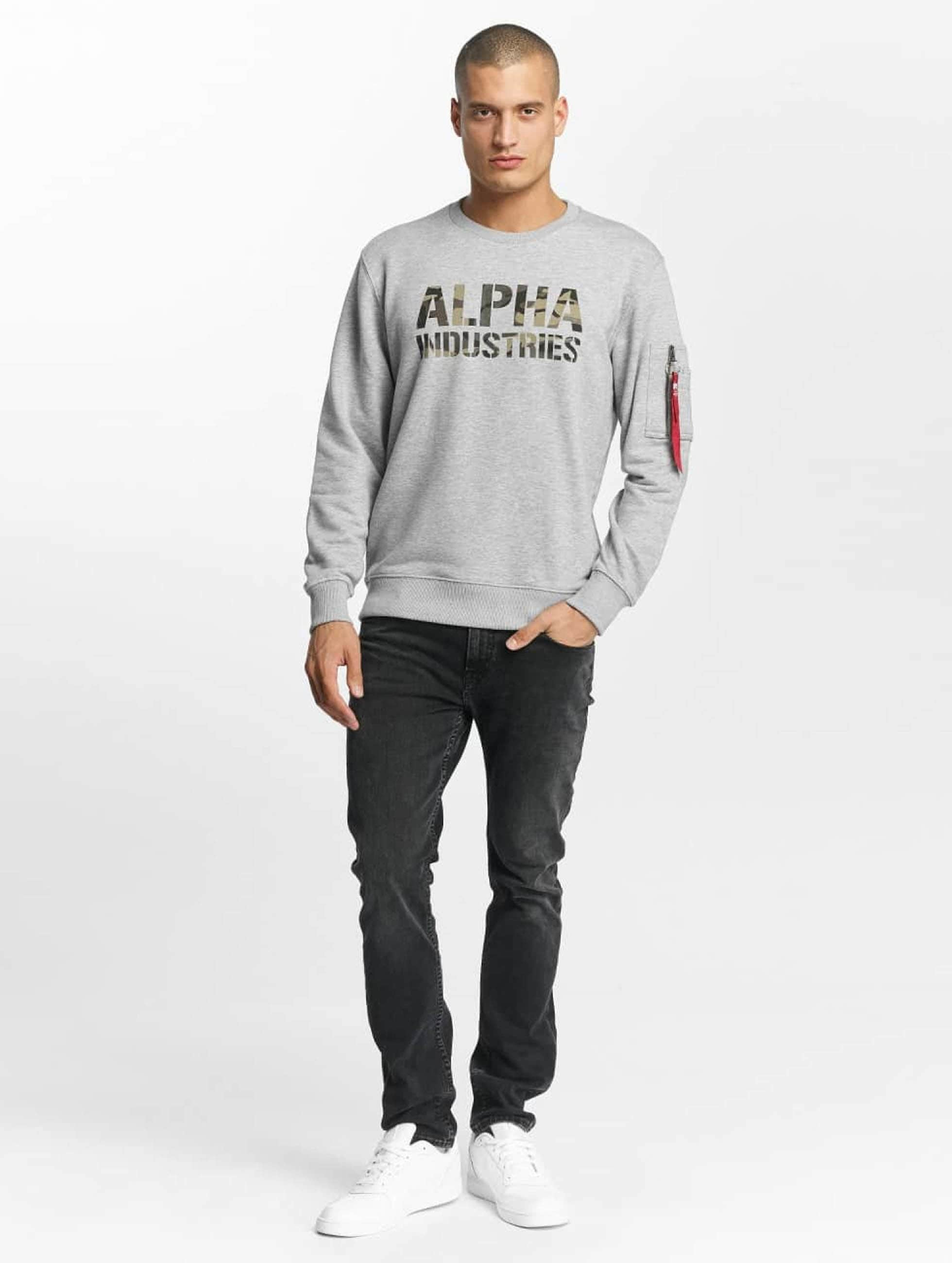 Alpha Industries Pullover Camo Print gray