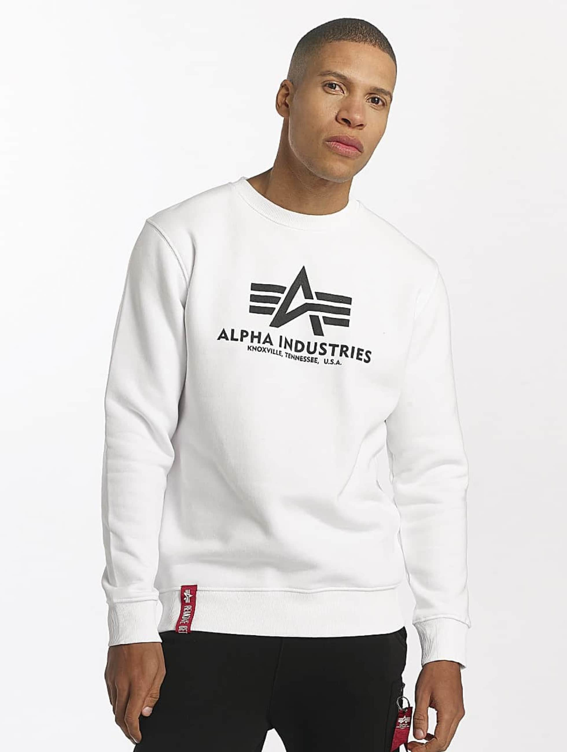 Alpha Industries Pullover Basic weiß