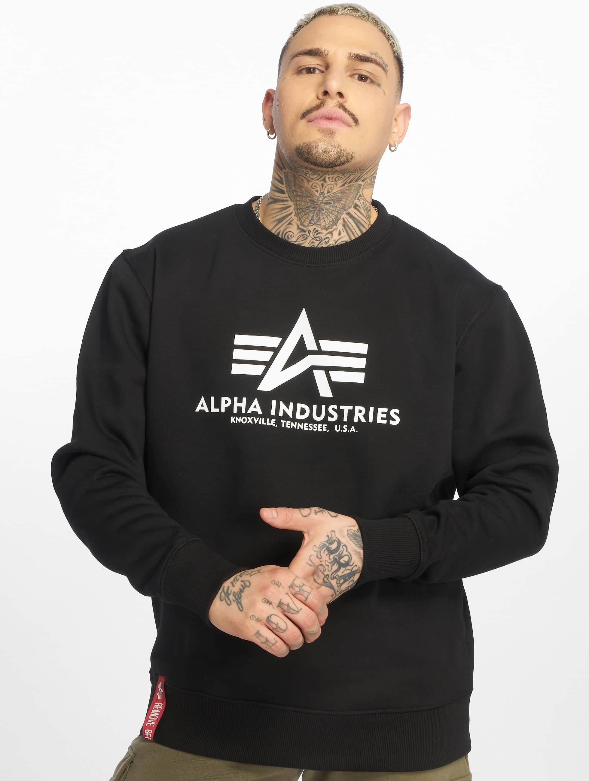 Alpha Industries Pulóvre Basic èierna