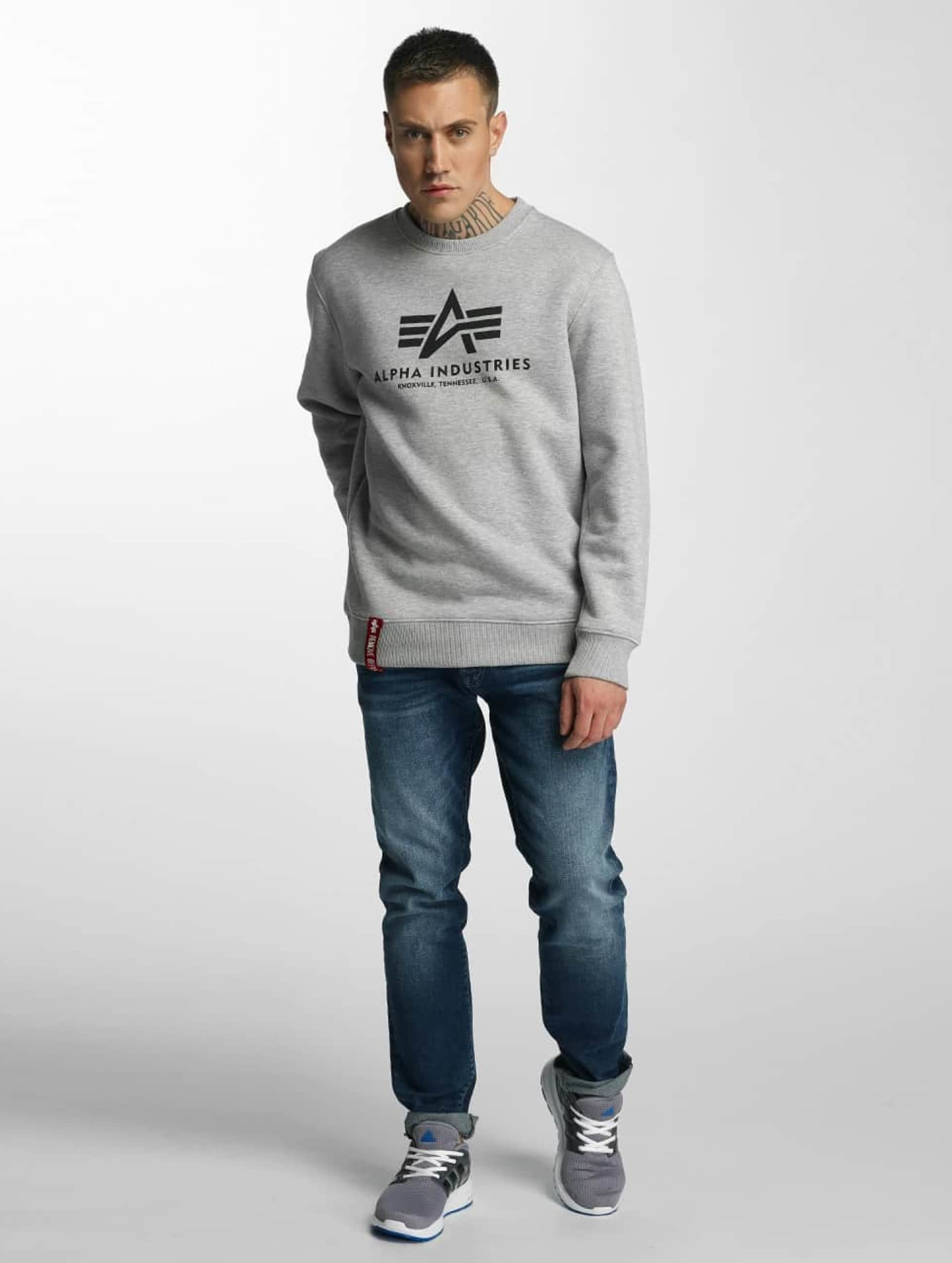 Alpha Industries Pulóvre Basic šedá