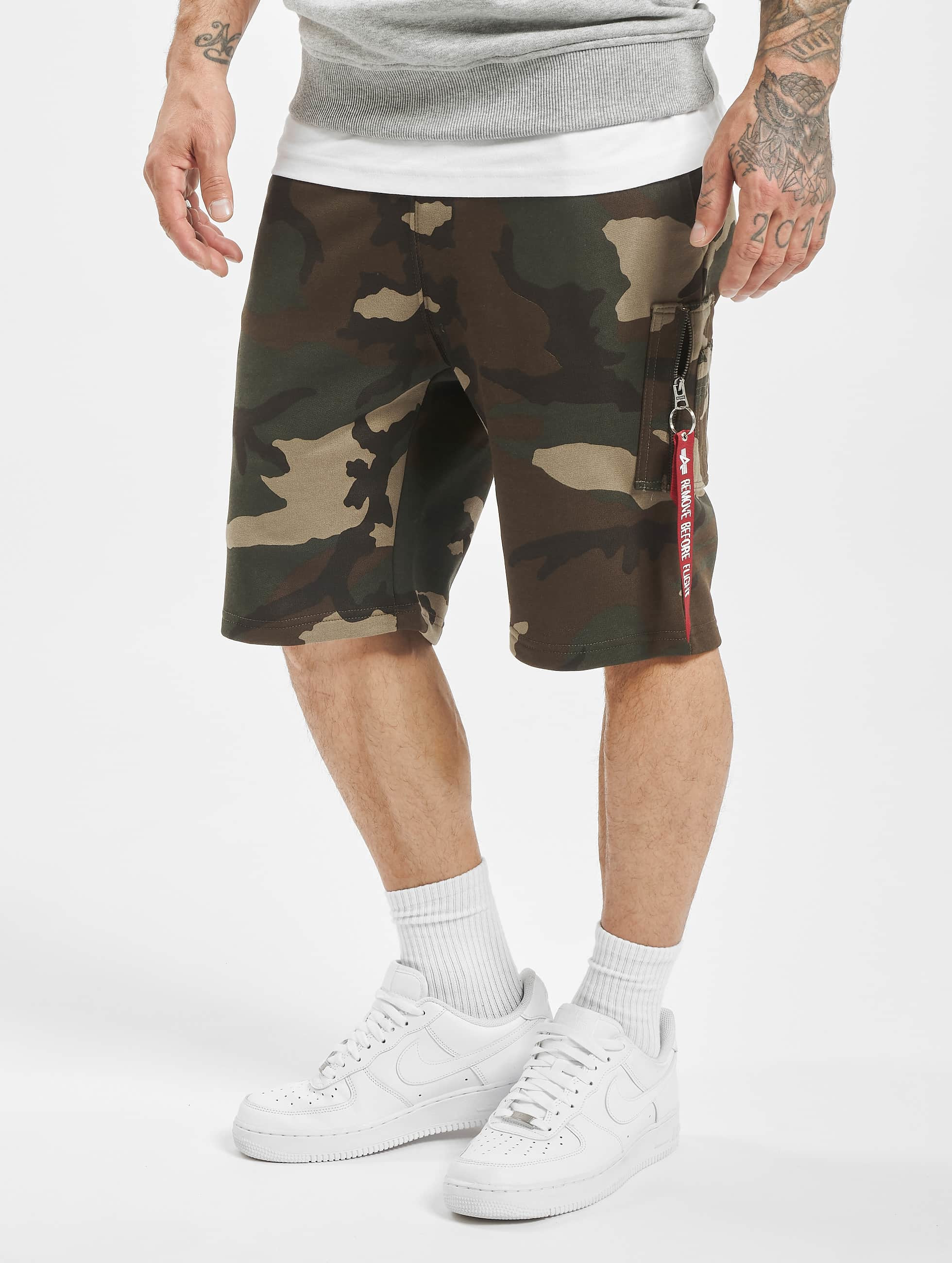 Alpha Industries Shorts X-Fit kamuflasje