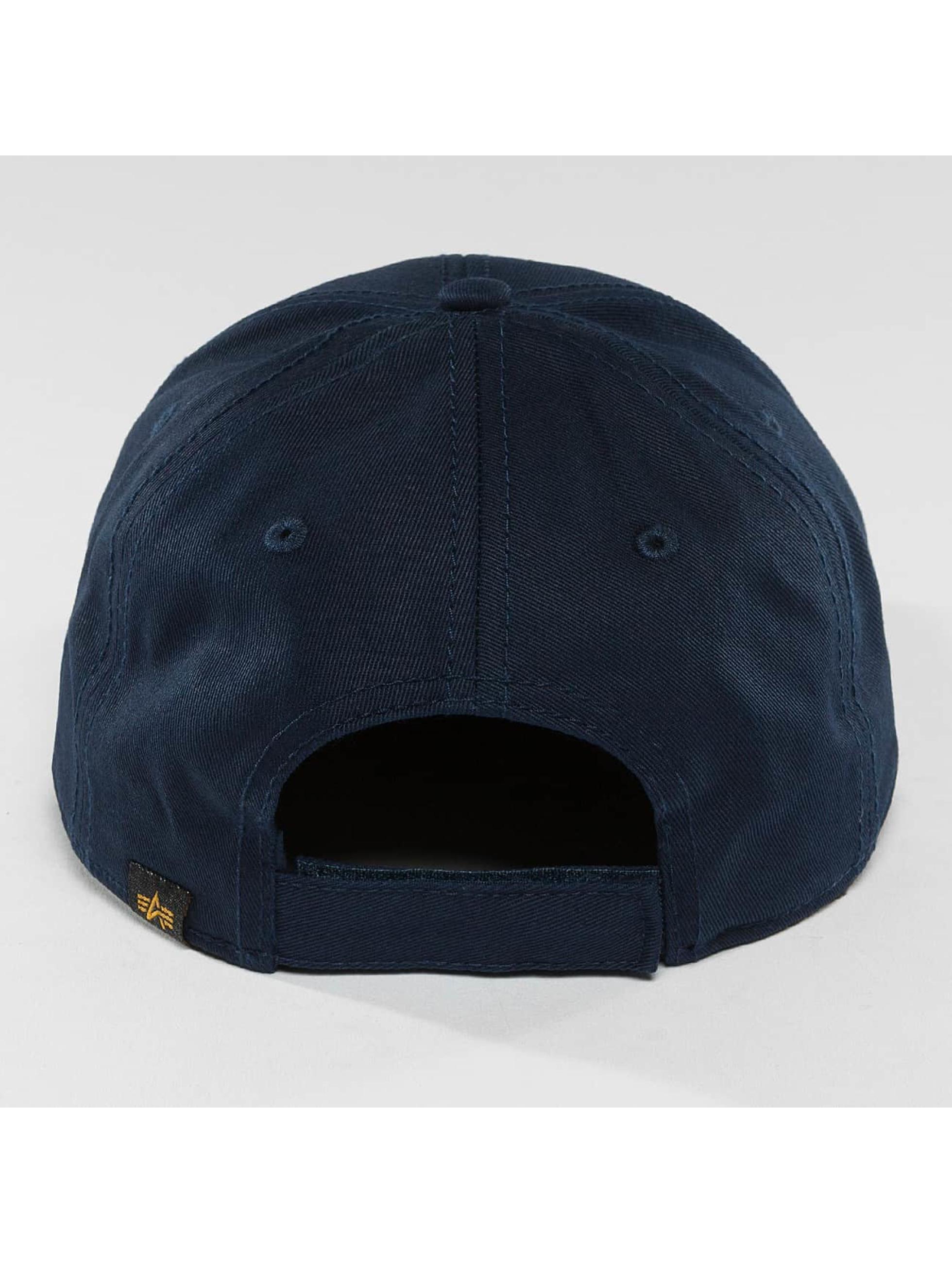 Alpha Industries Snapback Cap Velcro blau