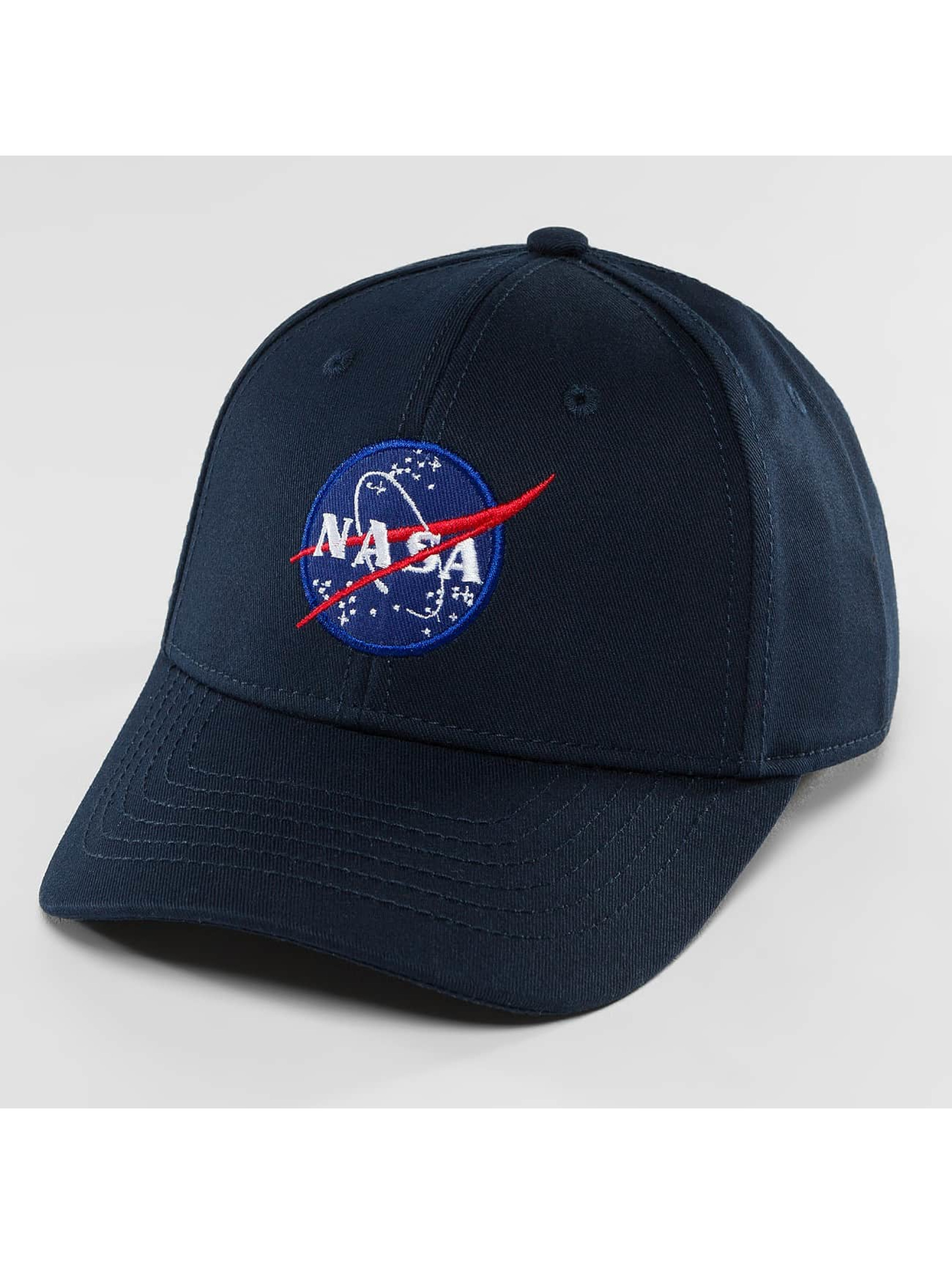 Alpha Industries Snapback Cap NASA blau