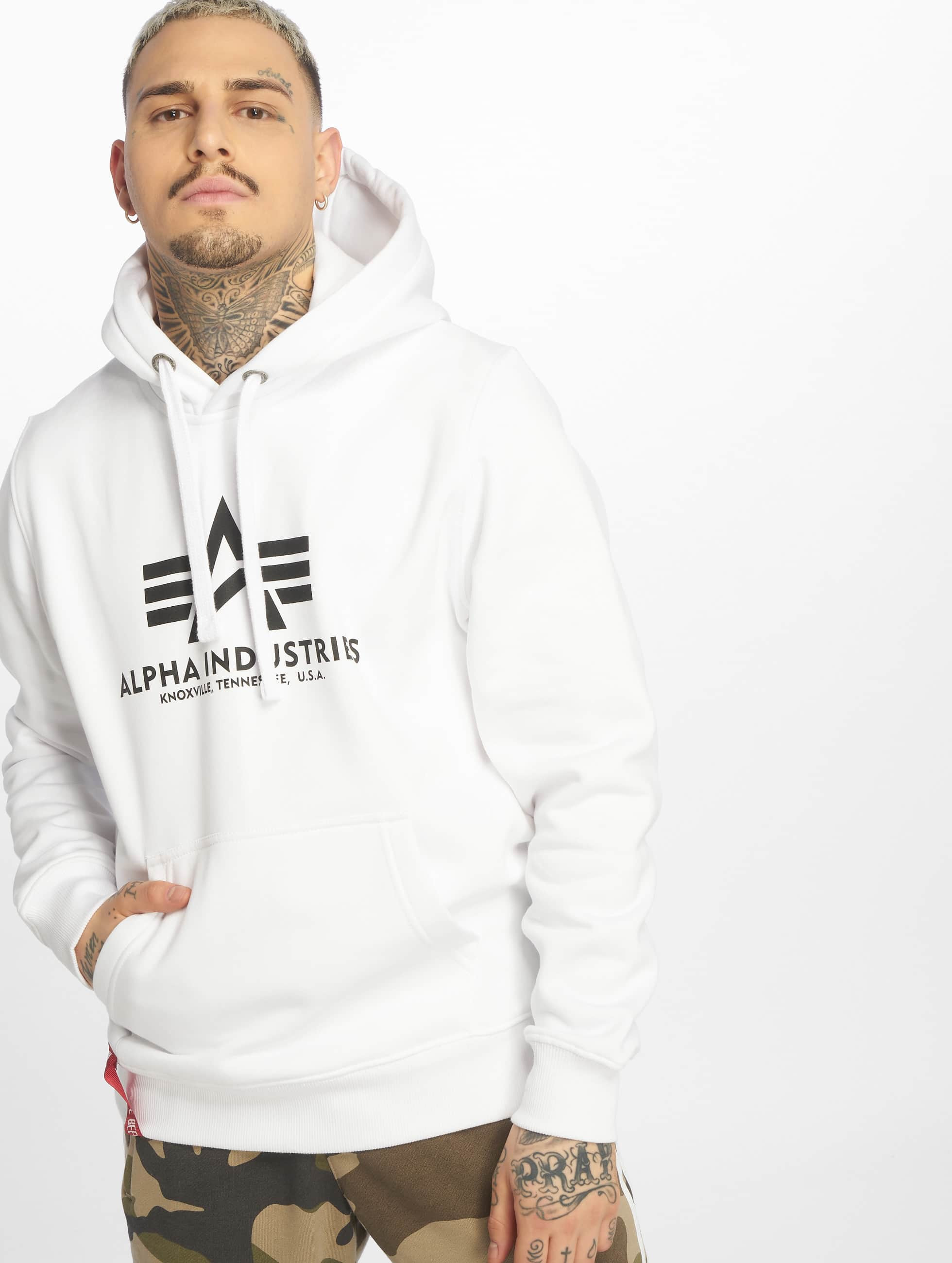 Alpha Industries Sudadera Basic blanco