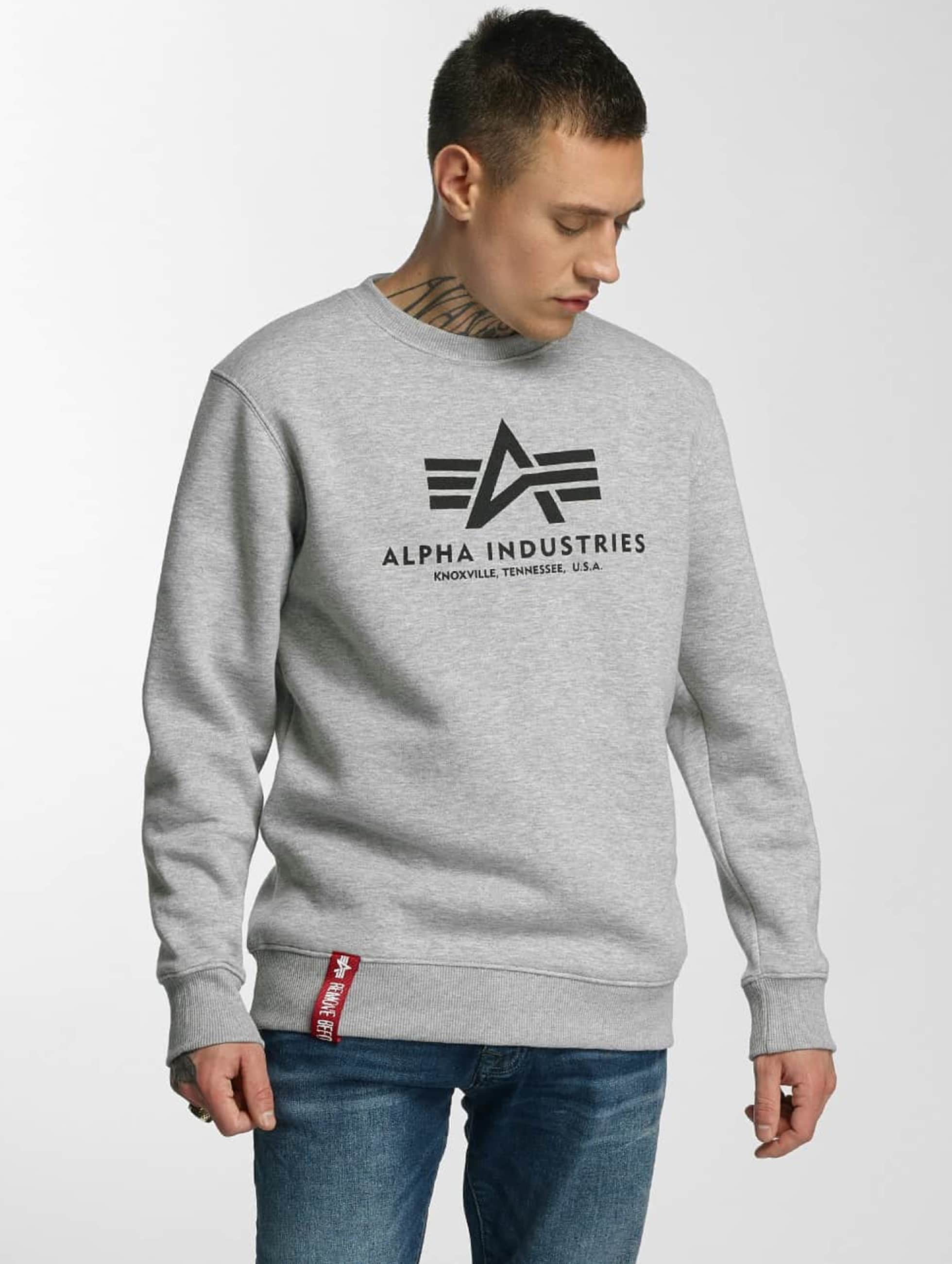 Alpha Industries Svetry Basic šedá