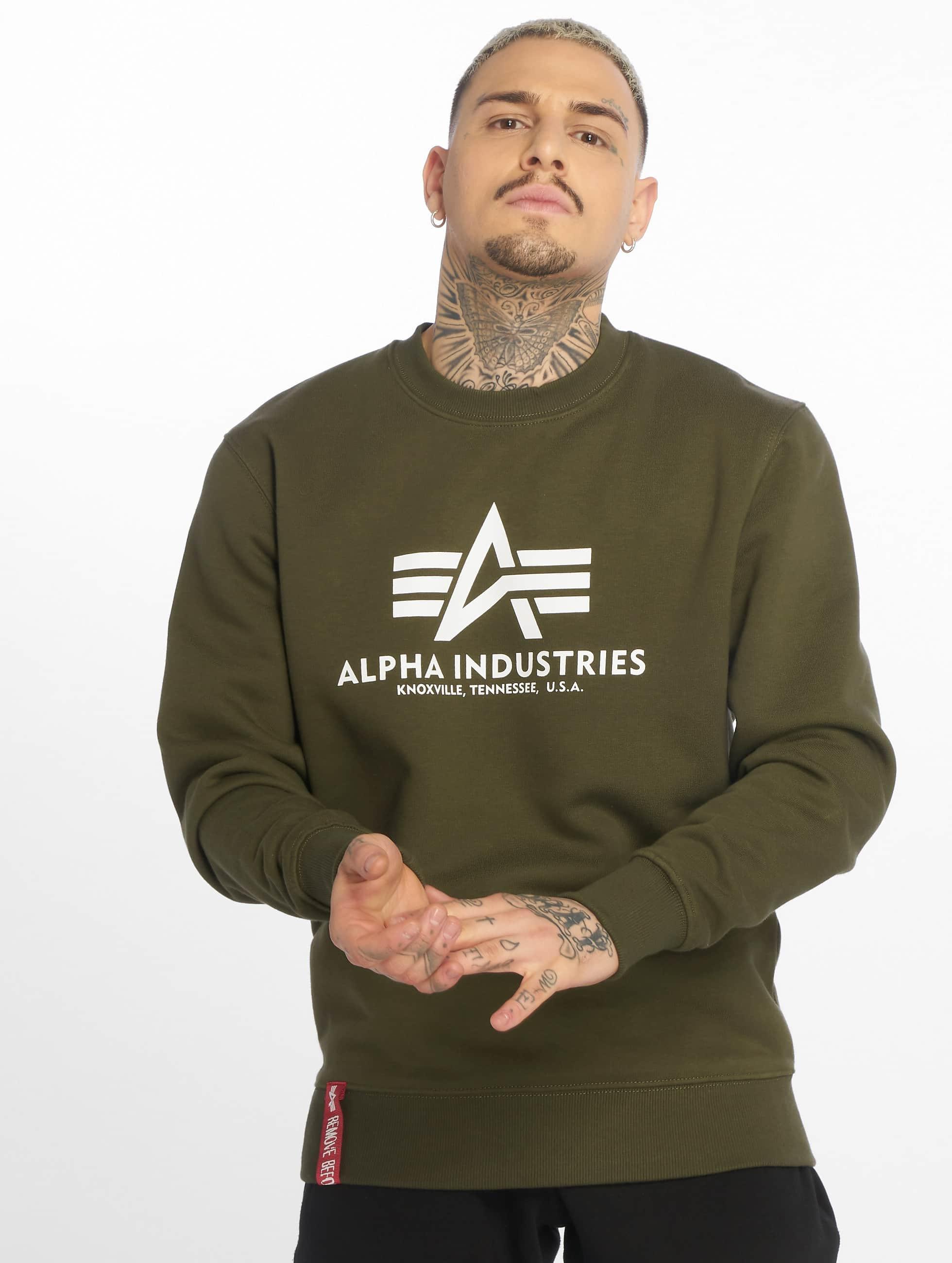 Alpha Industries Svetry Basic zelený