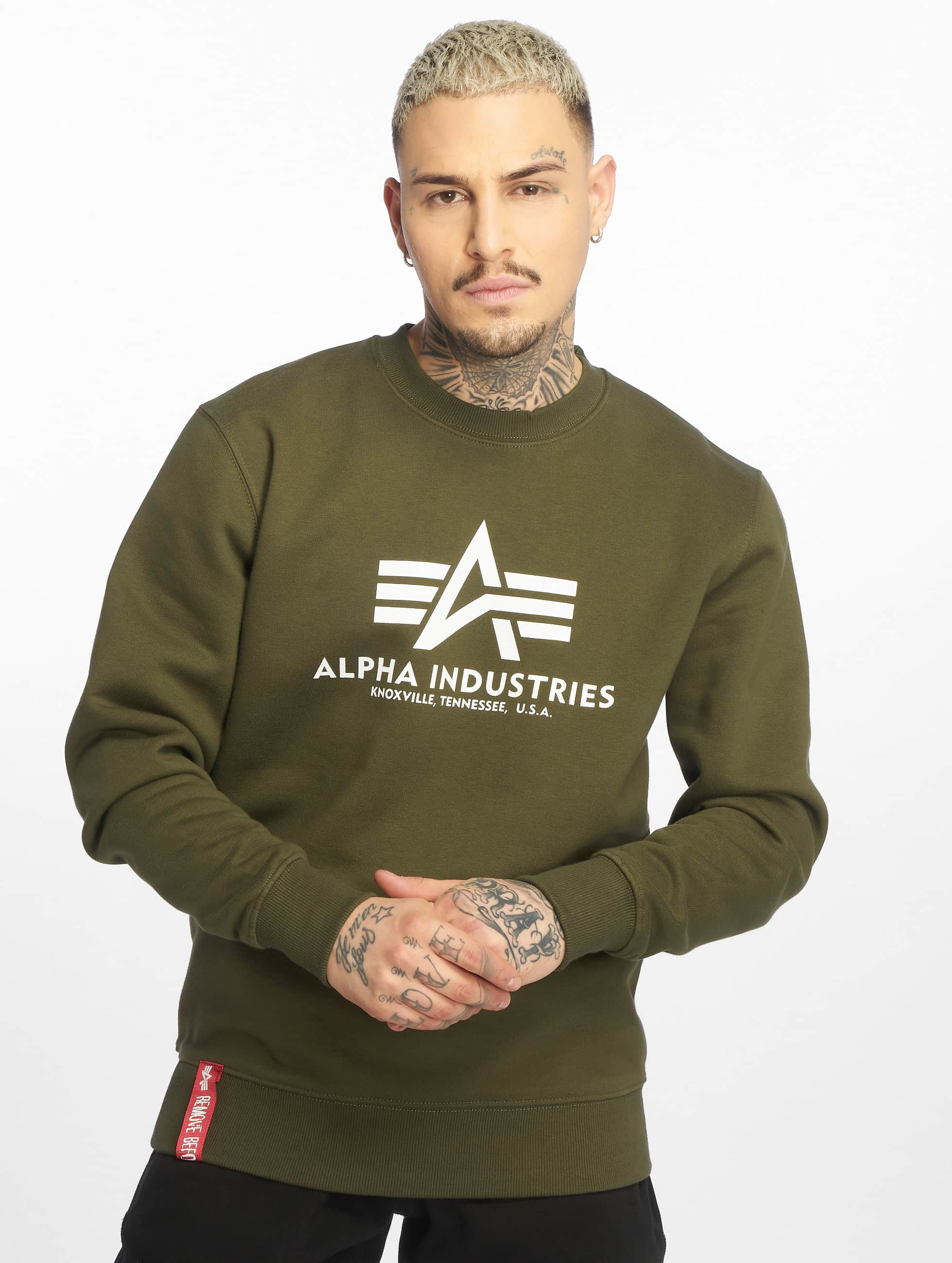 Alpha Industries Svetry Basic zelený