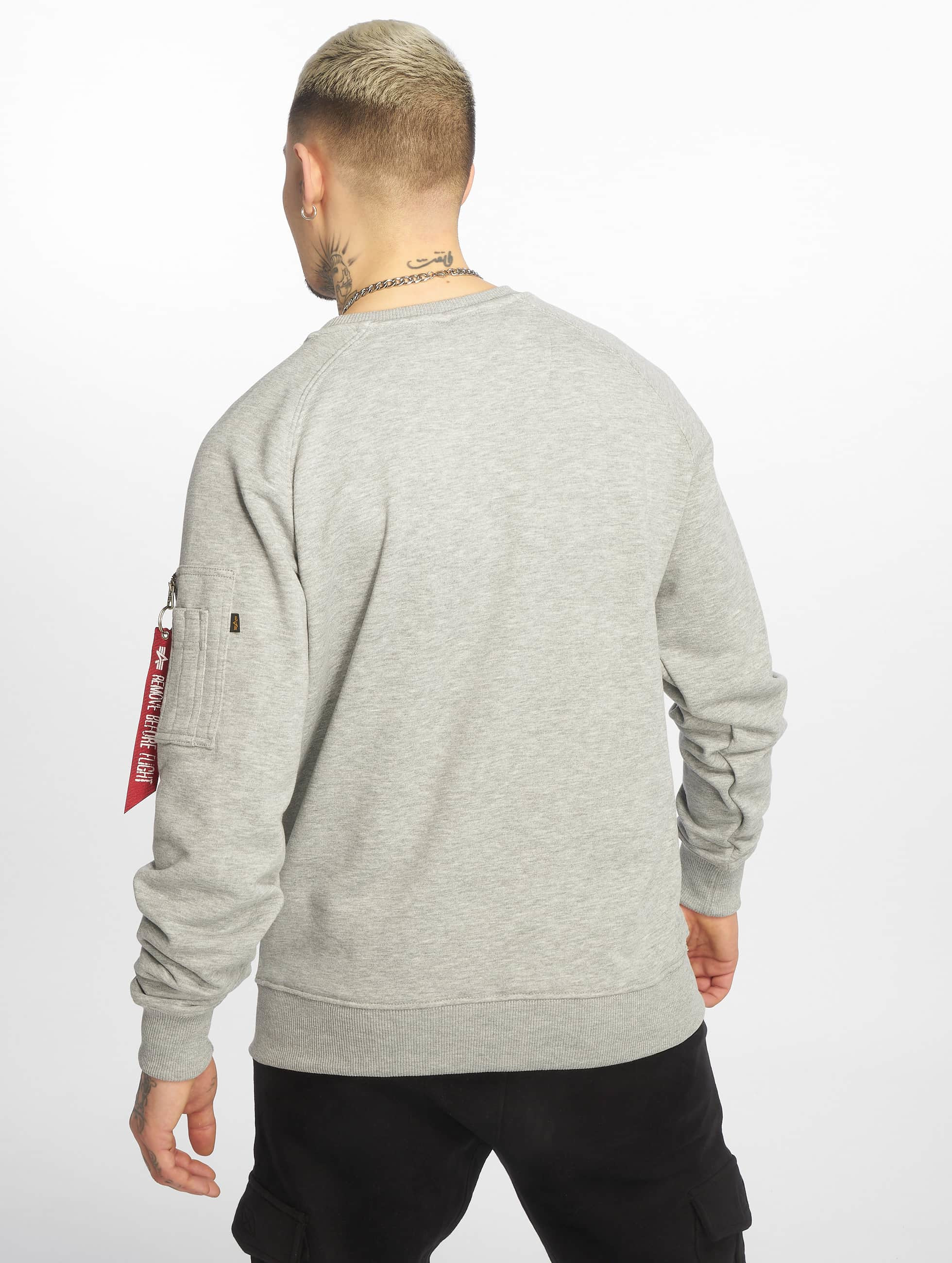 Alpha Industries Swetry X-Fit szary