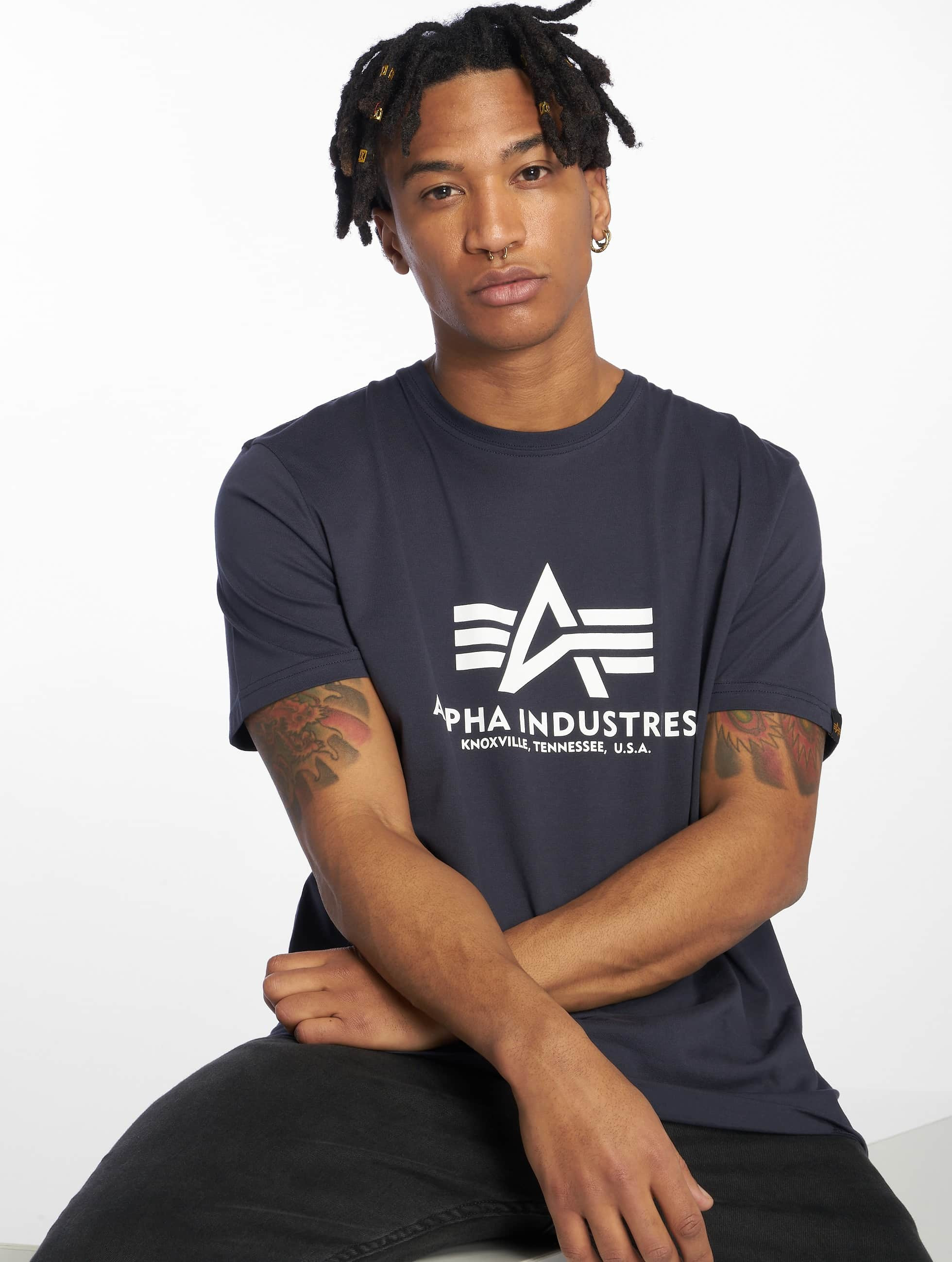 Alpha Industries t-shirt Basic blauw