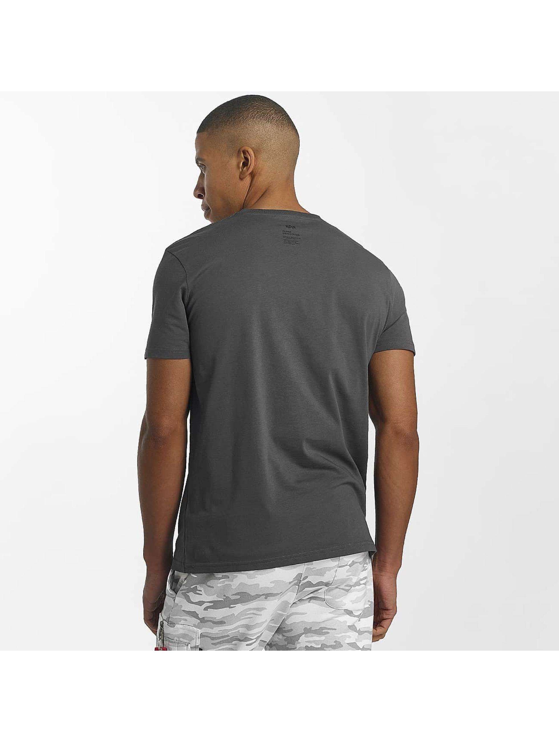 Alpha Industries T-Shirt Star grau