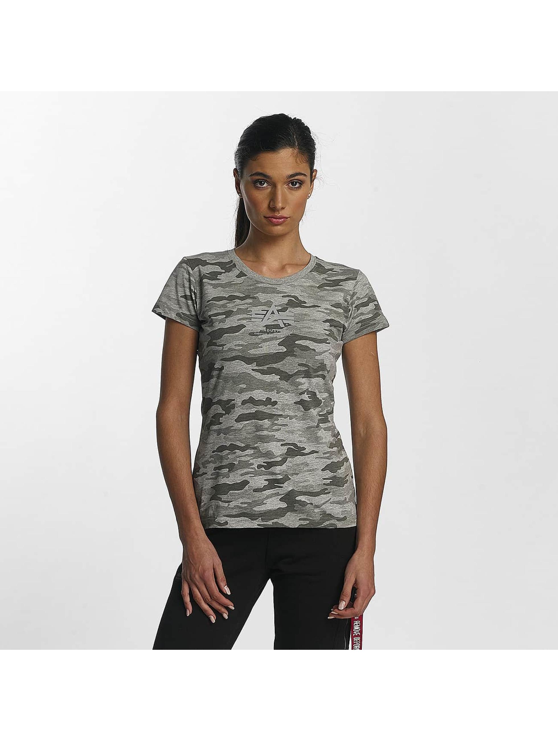 Alpha Industries T-Shirt Basic T Wmn gris