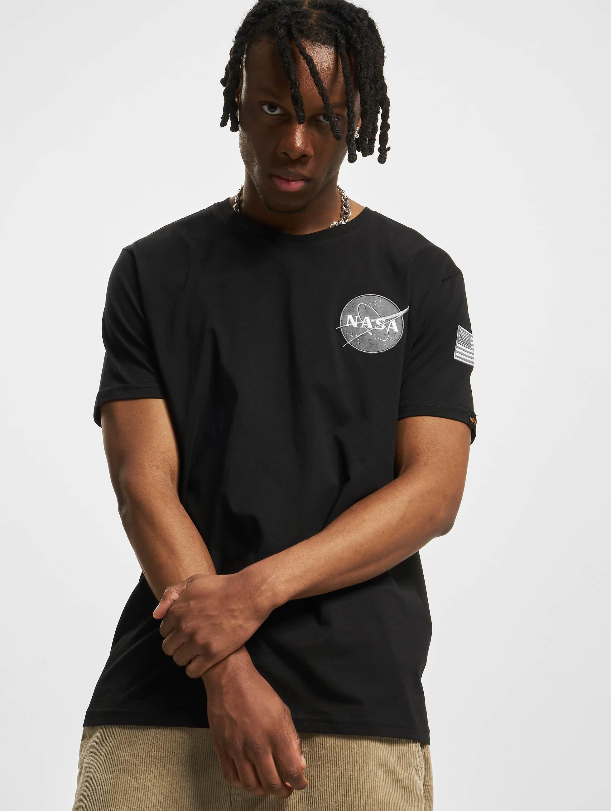 Alpha Industries T-Shirt Space Shuttle T schwarz