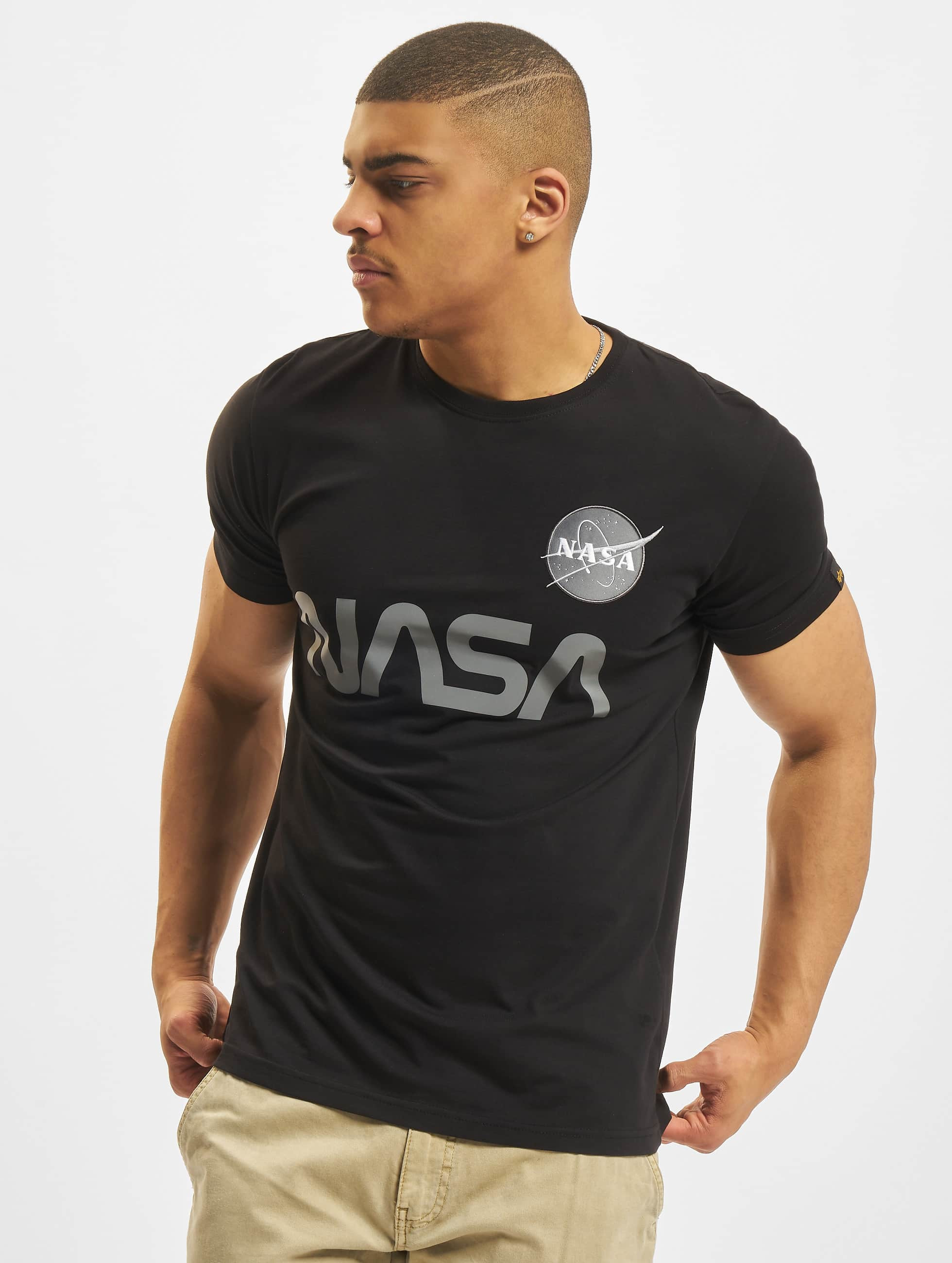 Alpha Industries T-Shirt NASA Reflective schwarz