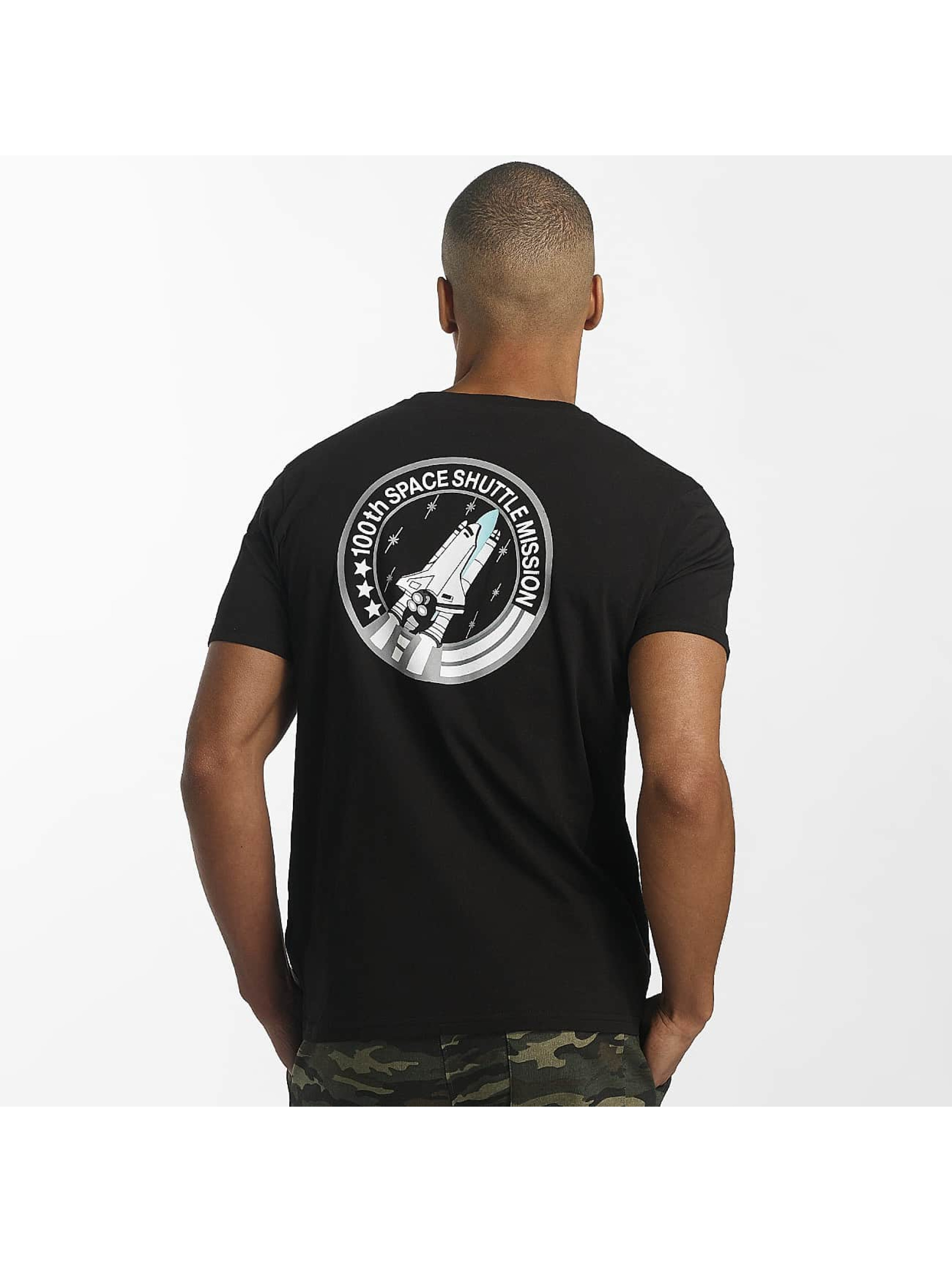 Alpha Industries T-Shirty Space Shuttle T czarny