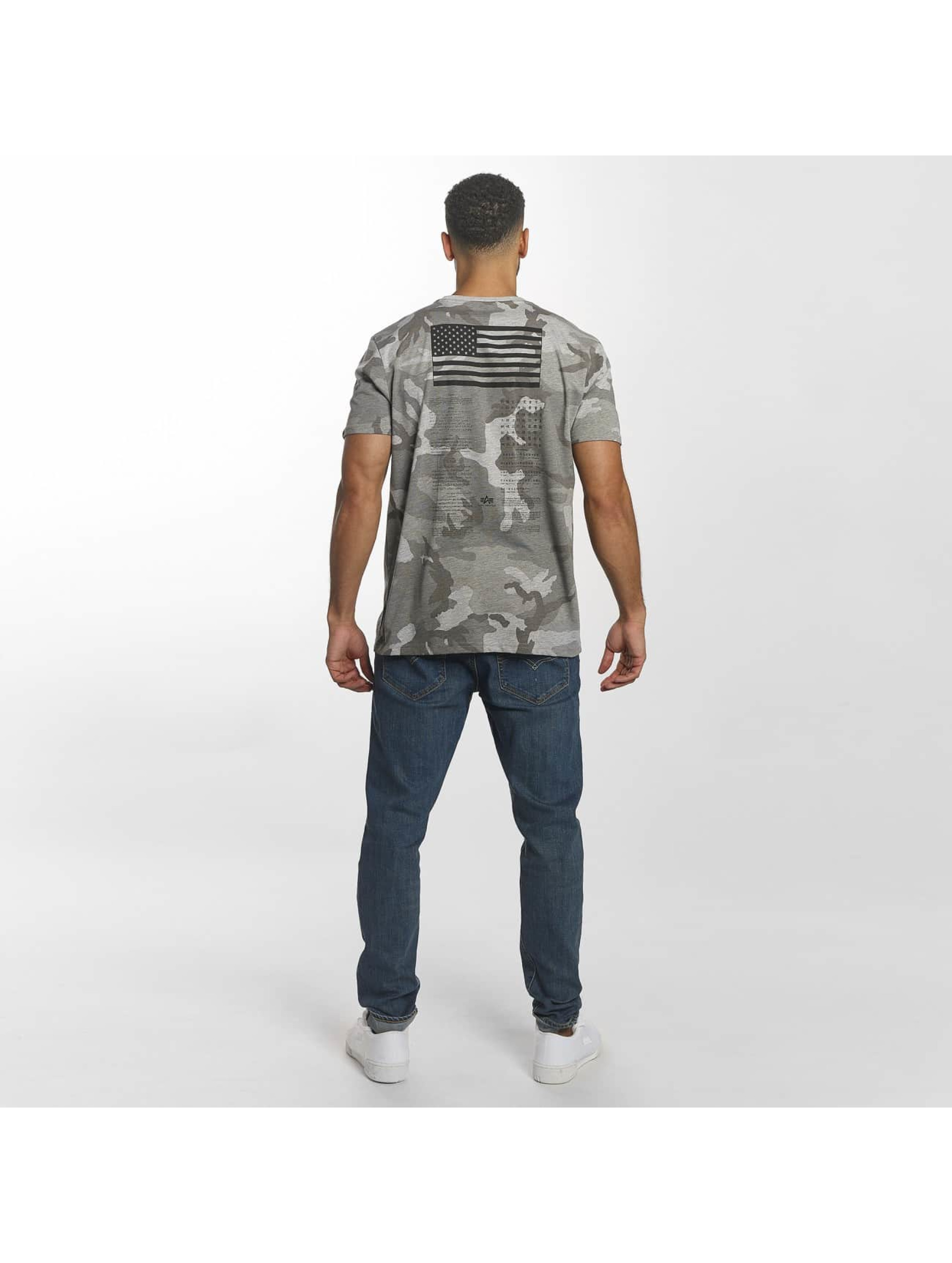 Alpha Industries T-Shirty Blood Chit Print moro