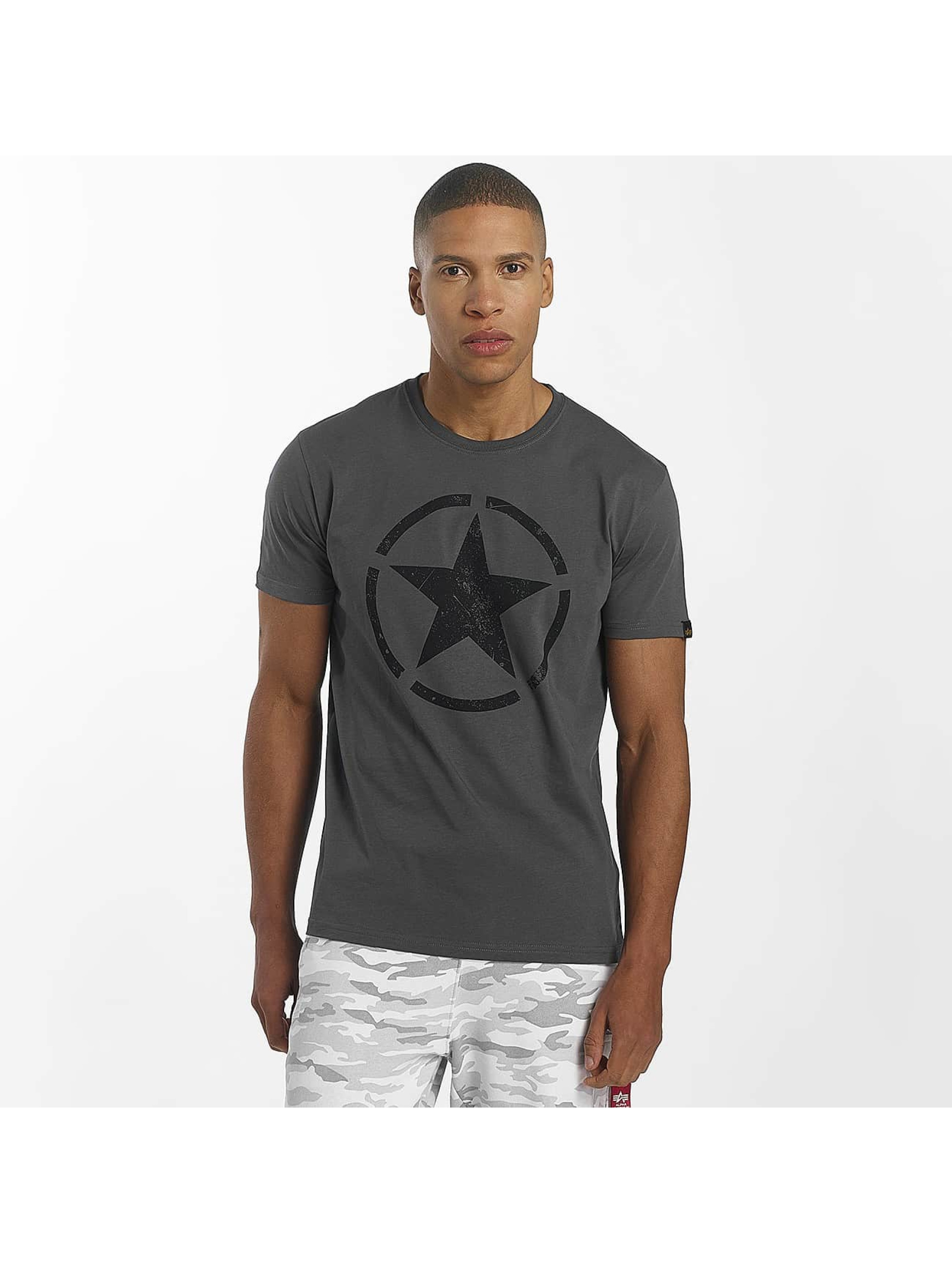 Alpha Industries T-Shirty Star szary
