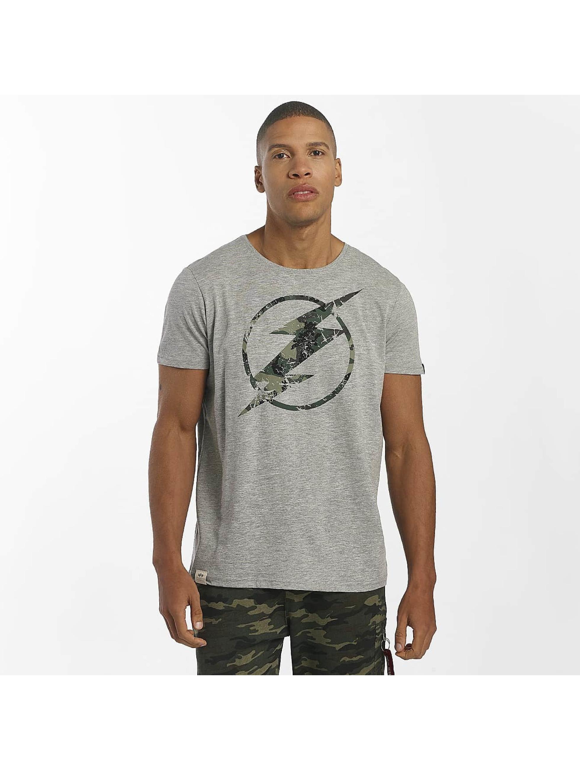 Alpha Industries T-Shirty Flash szary