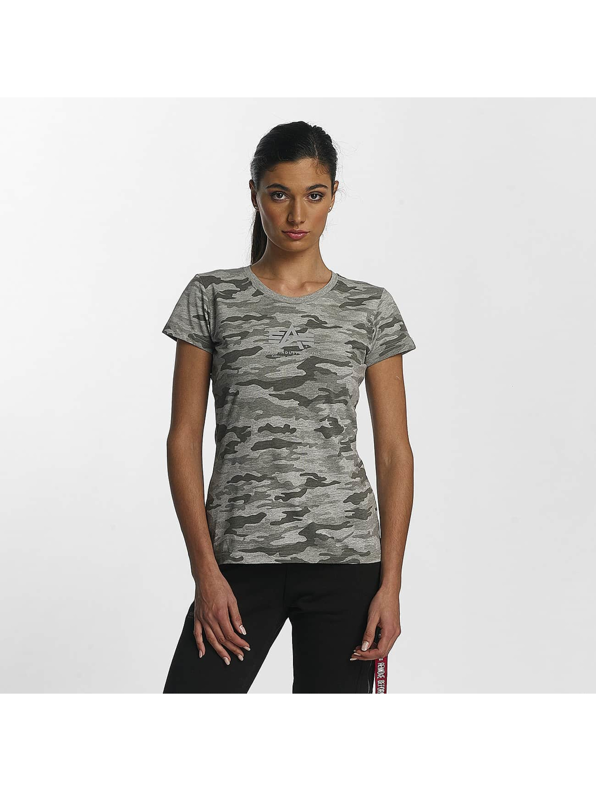Alpha Industries T-Shirty Basic T Wmn szary