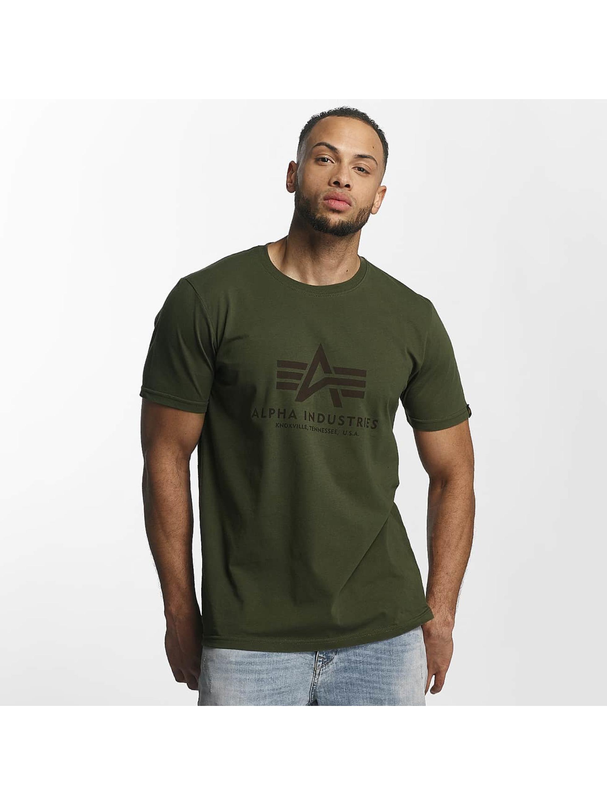 Alpha Industries T-Shirty Basic zielony