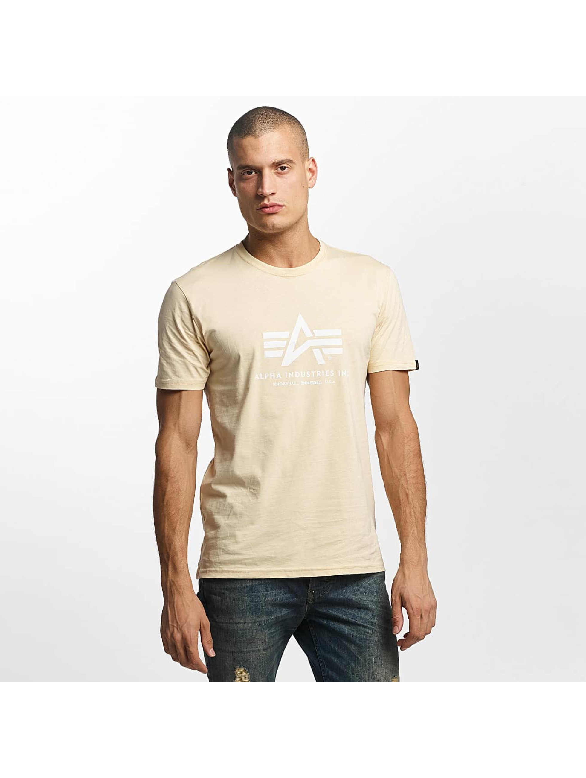 Alpha Industries T-skjorter Basic beige