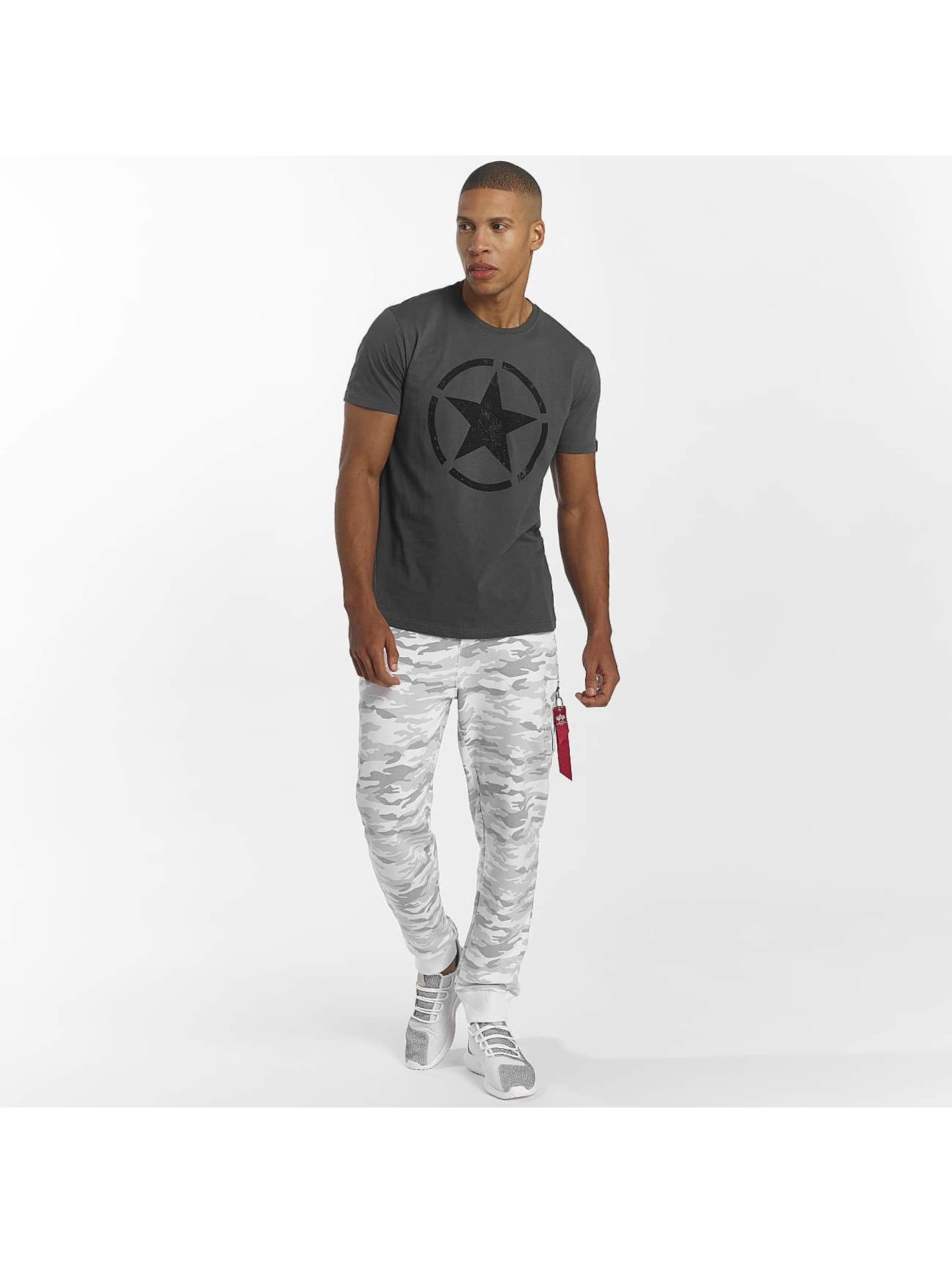 Alpha Industries T-skjorter Star grå
