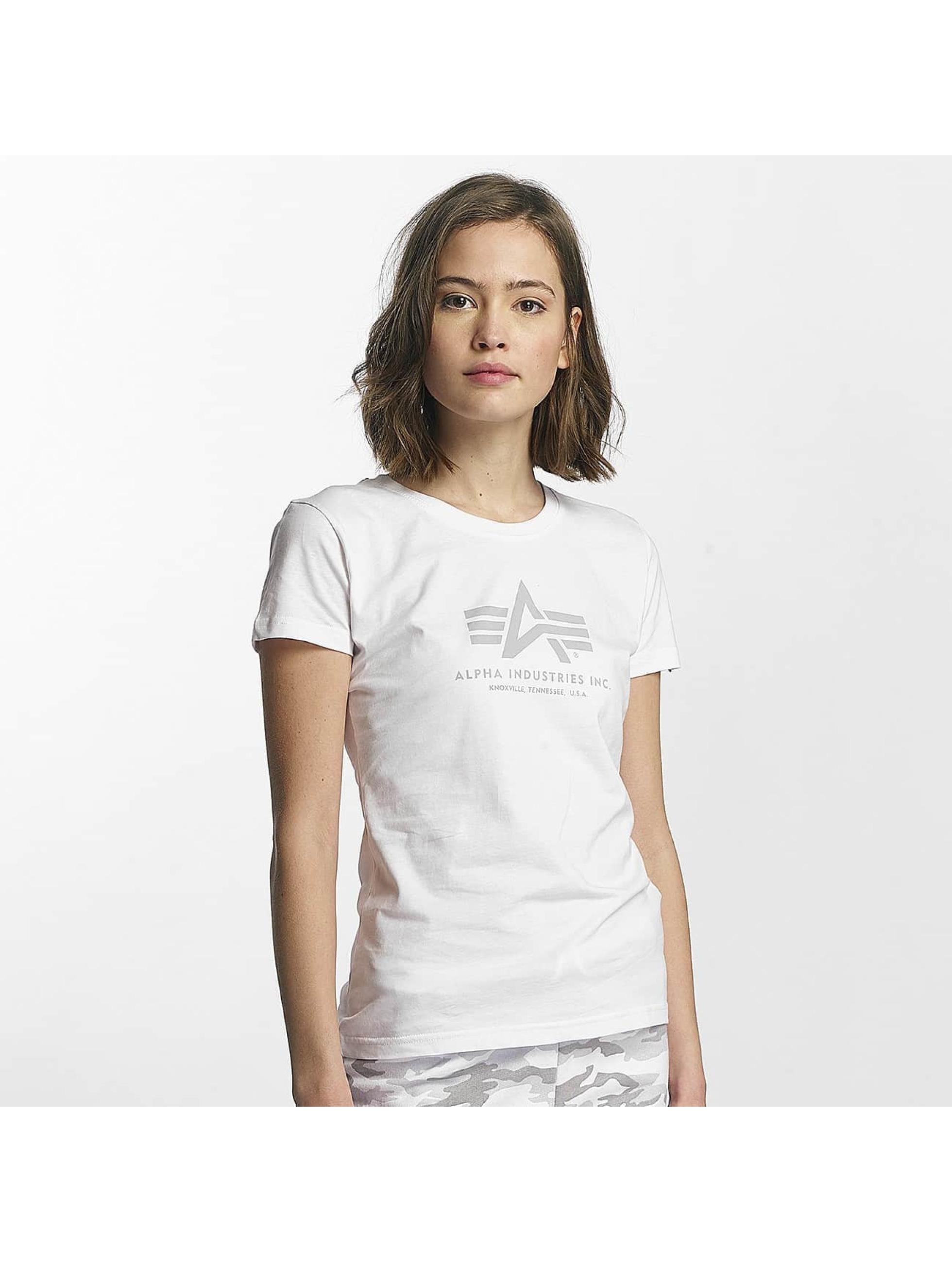 Alpha Industries T-skjorter Logo hvit