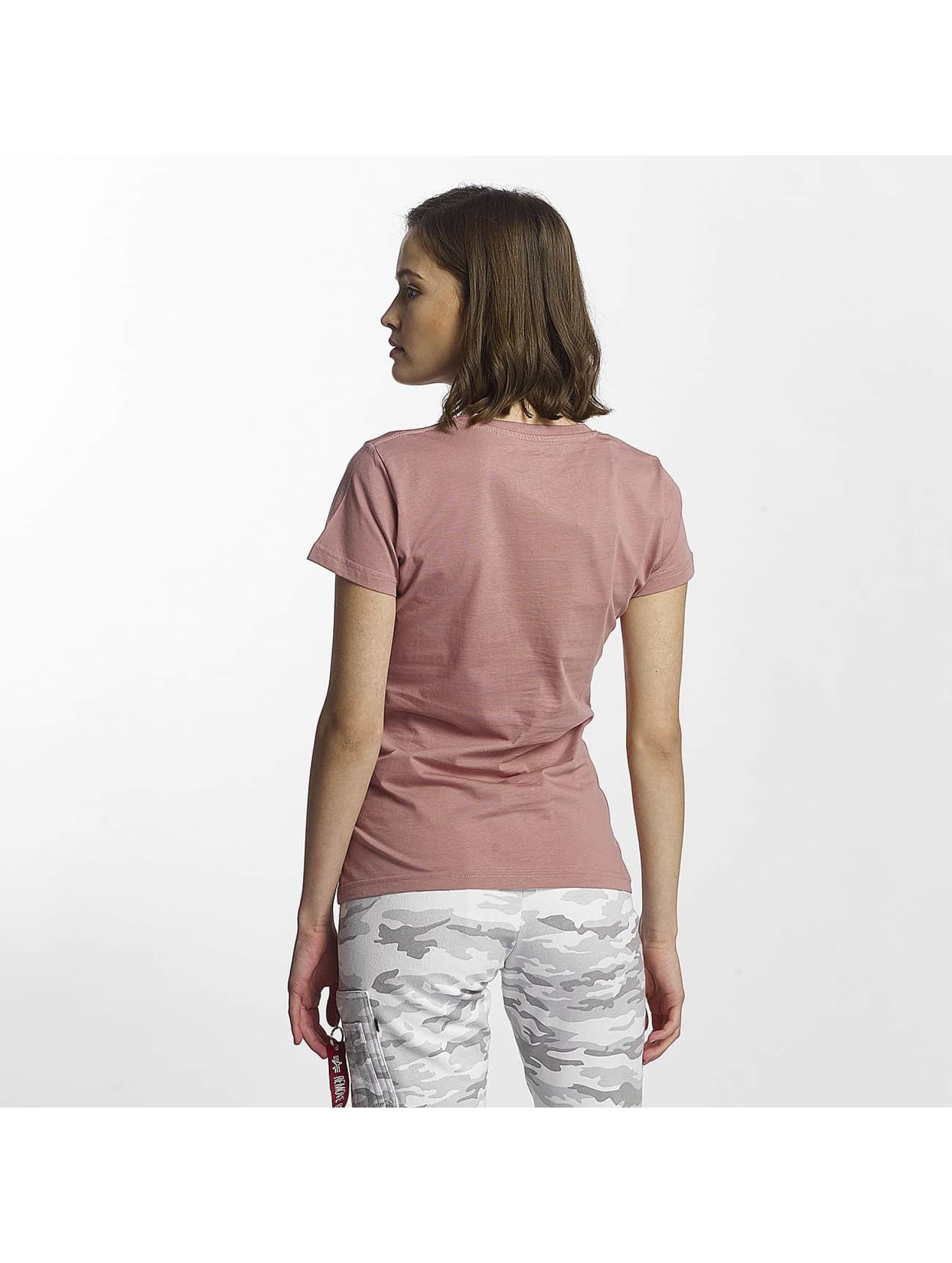 Alpha Industries T-skjorter Logo lyserosa