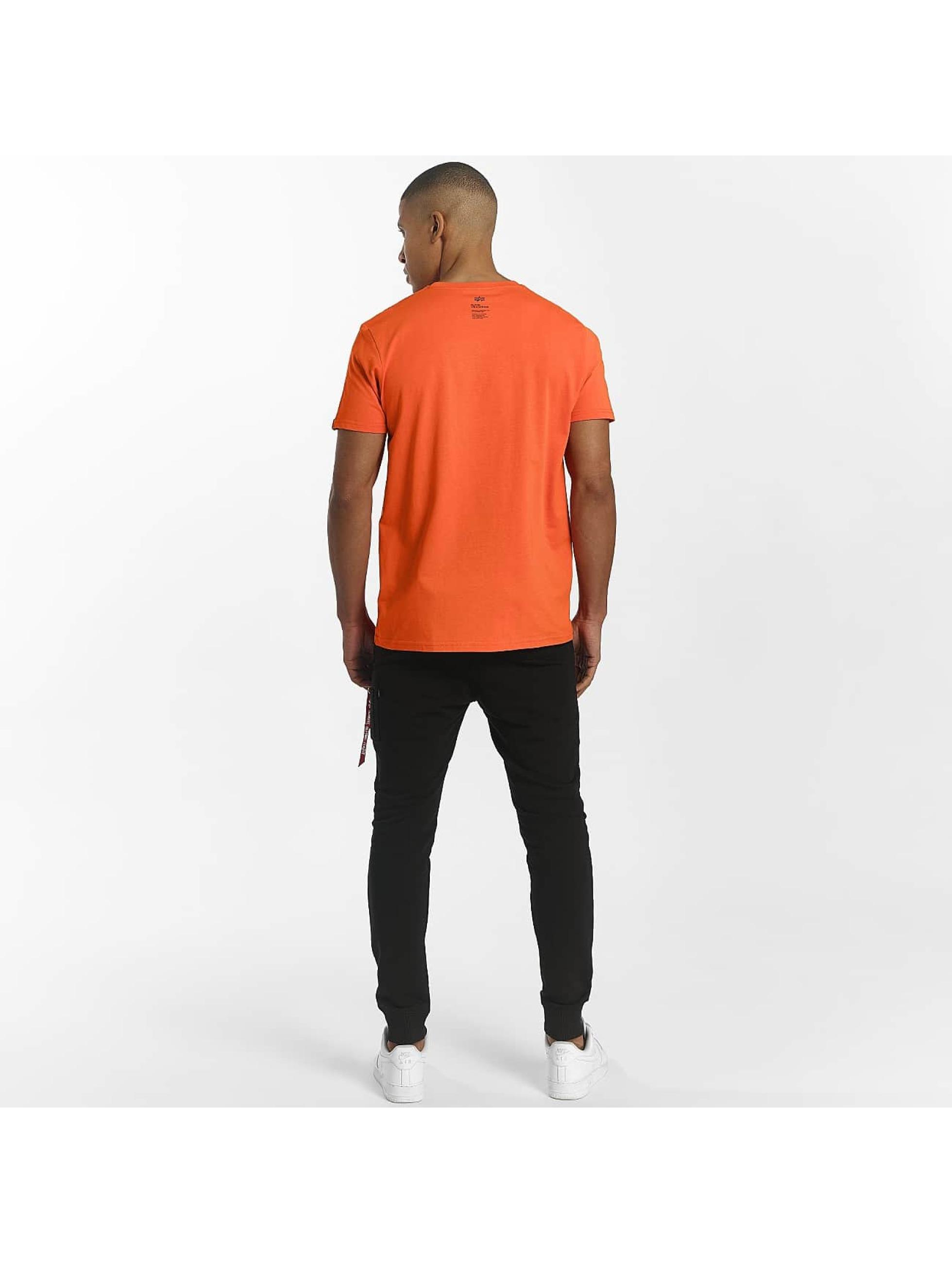 Alpha Industries T-skjorter Star oransje