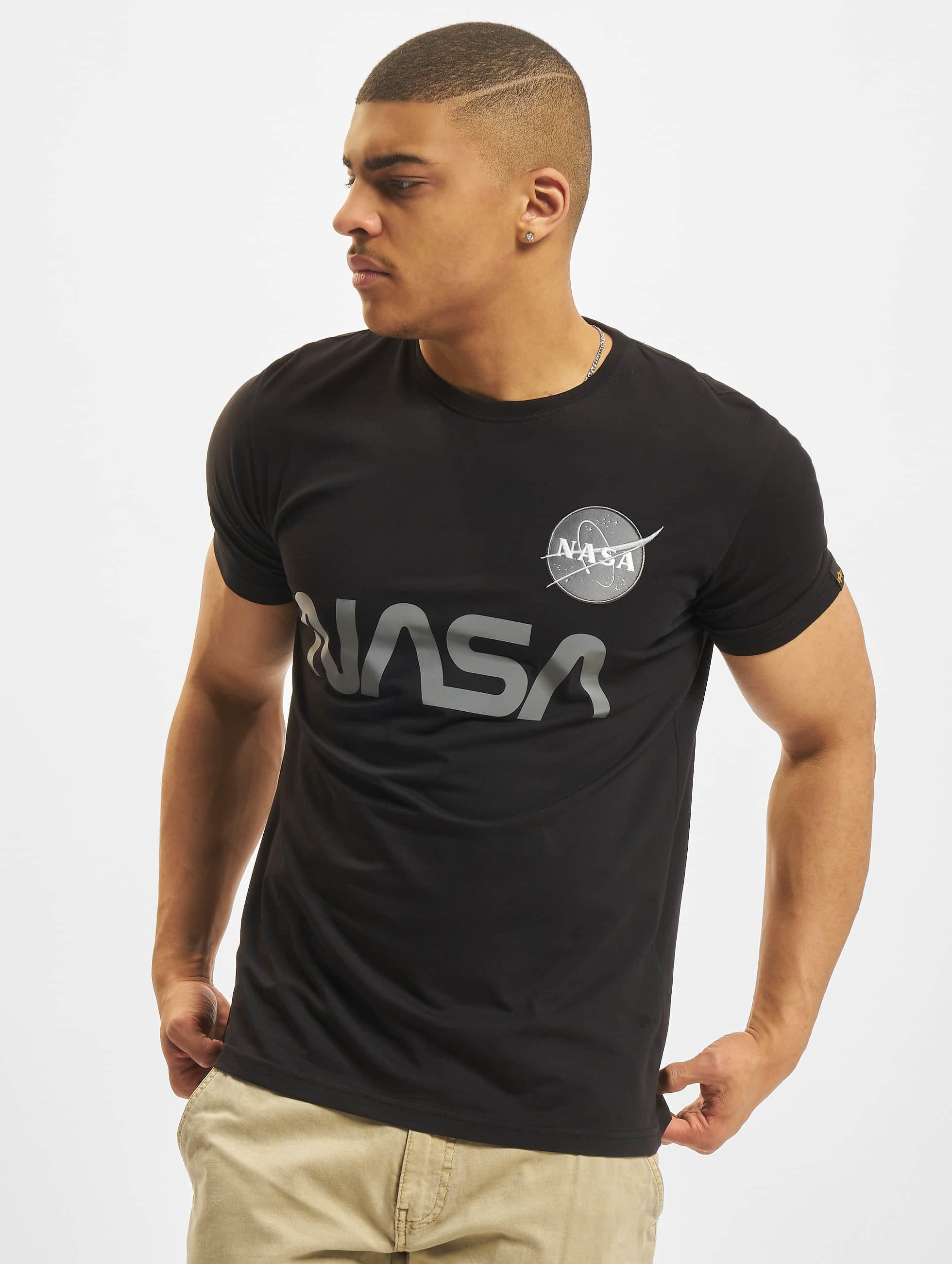 Alpha Industries T-skjorter NASA Reflective svart