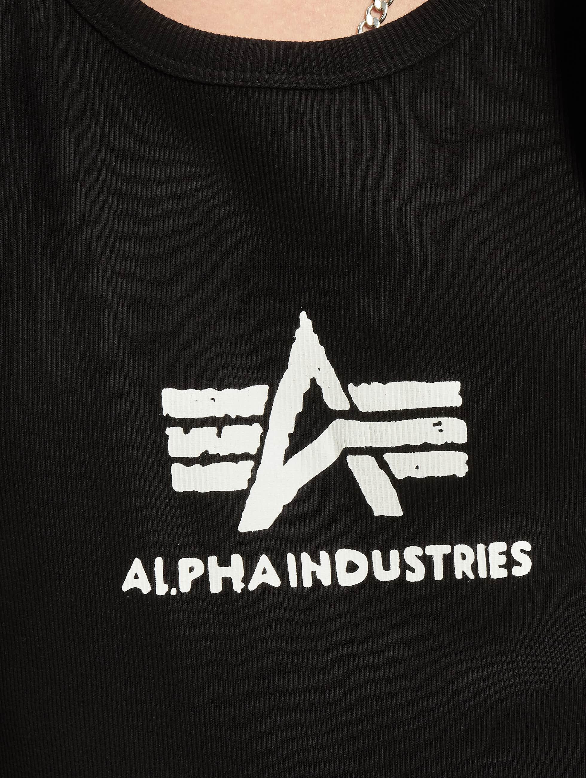 Alpha Industries Tank Tops Logo èierna