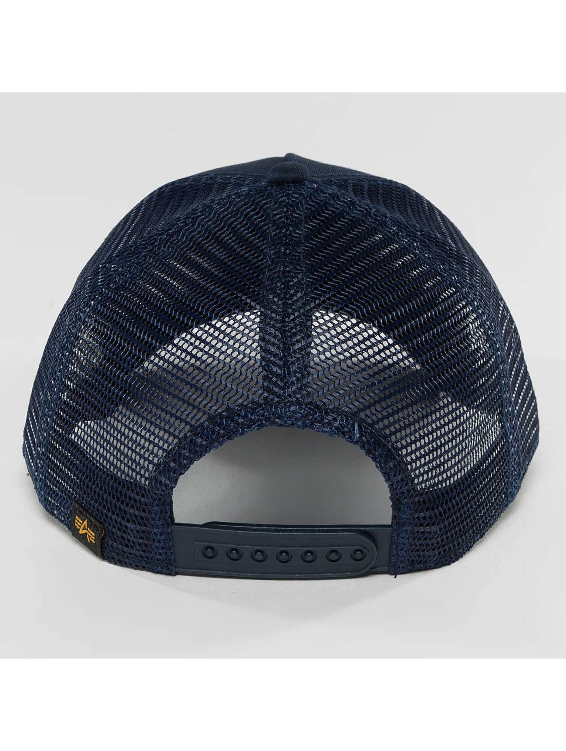 Alpha Industries Trucker Cap Basic blau