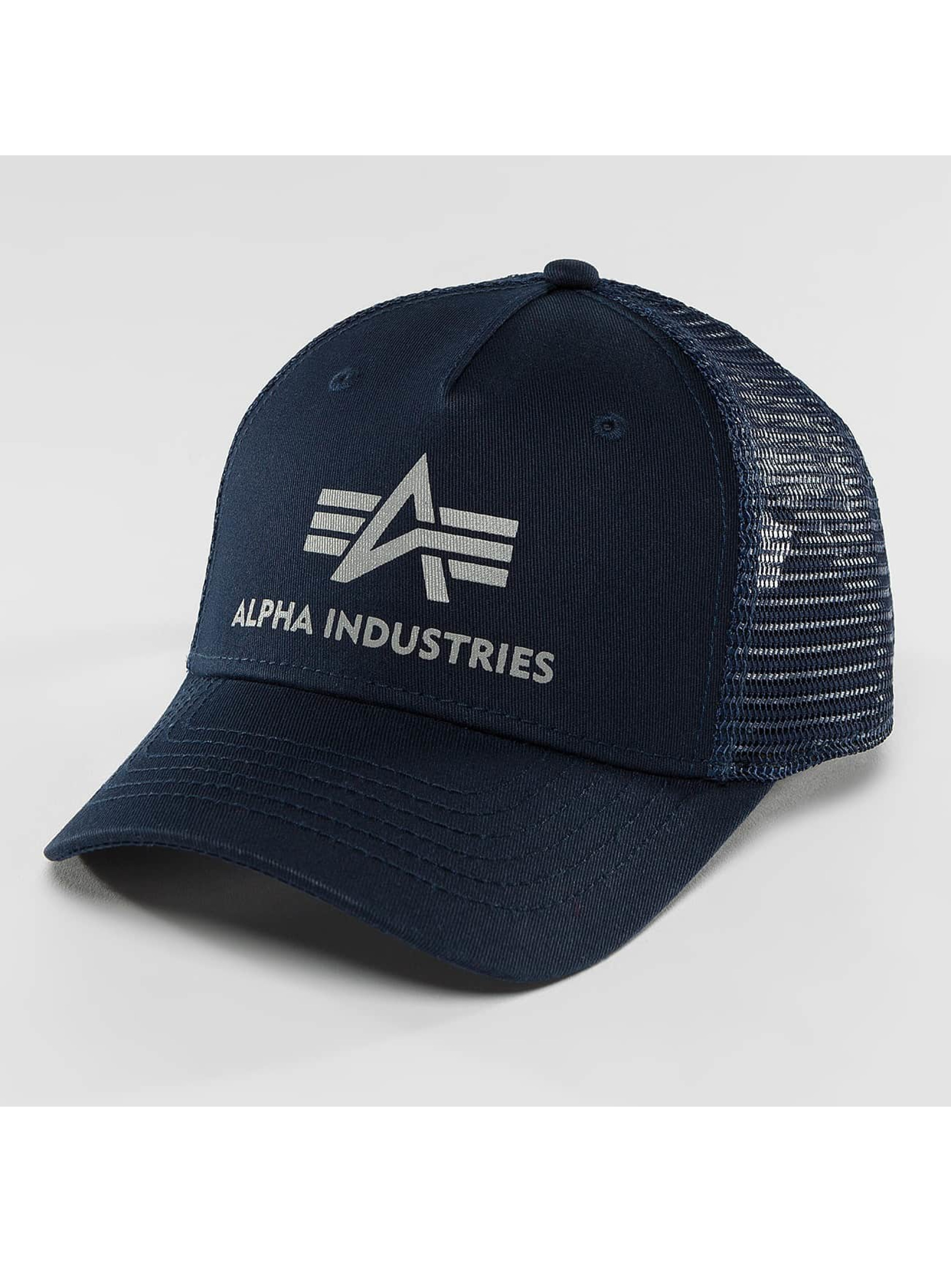 Alpha Industries Trucker Caps Basic blå