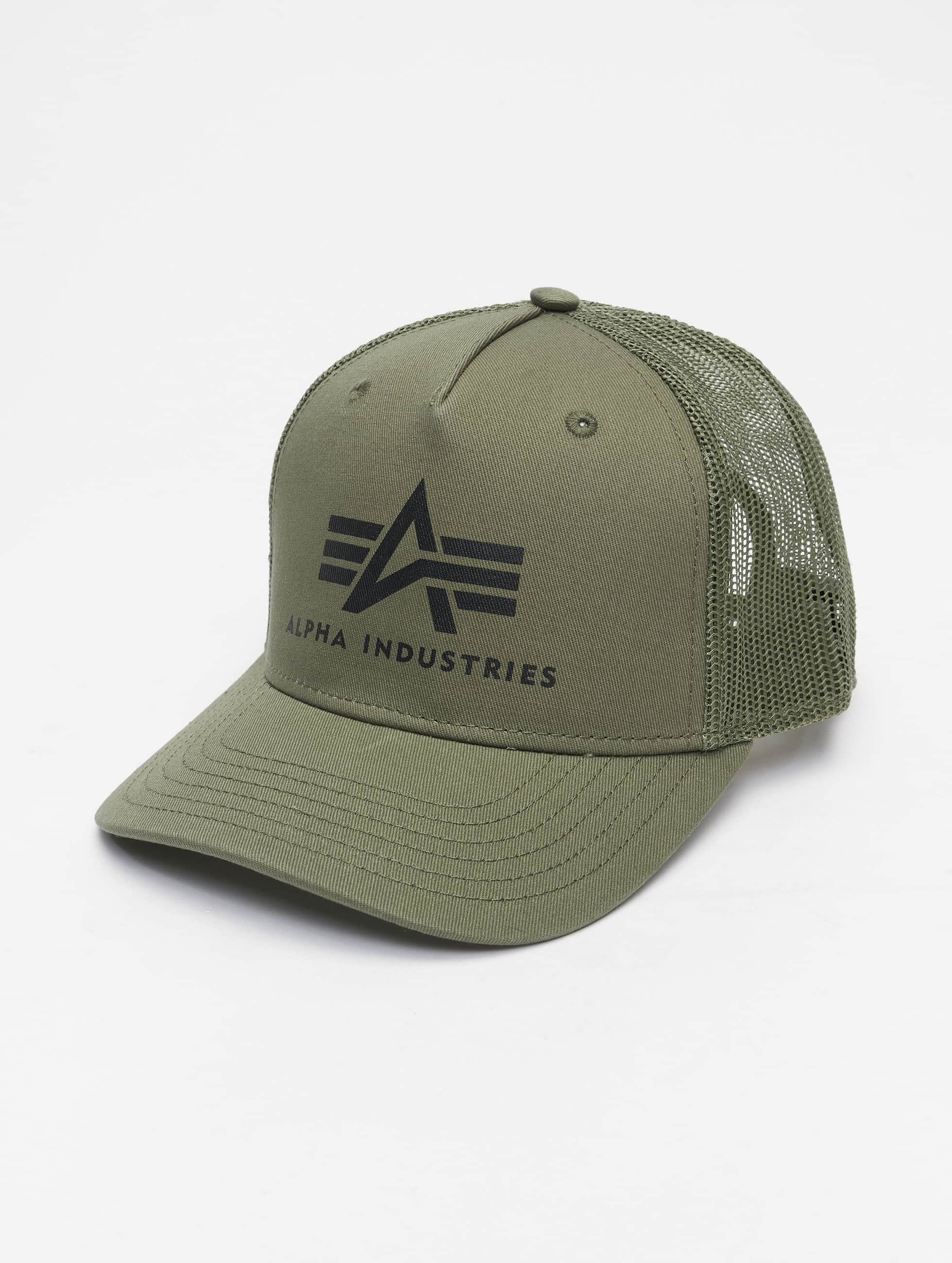 Alpha Industries Trucker Caps Basic grøn