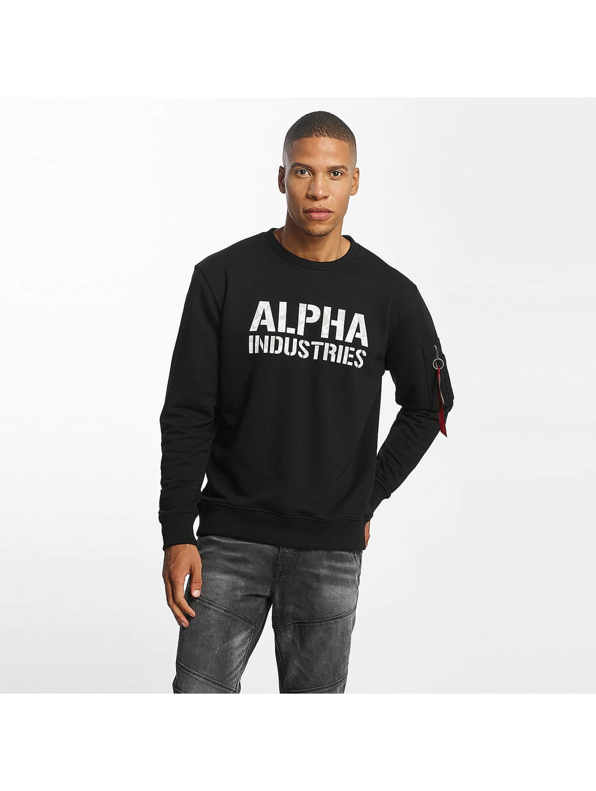 Alpha Industries heren trui Camo Print - zwart