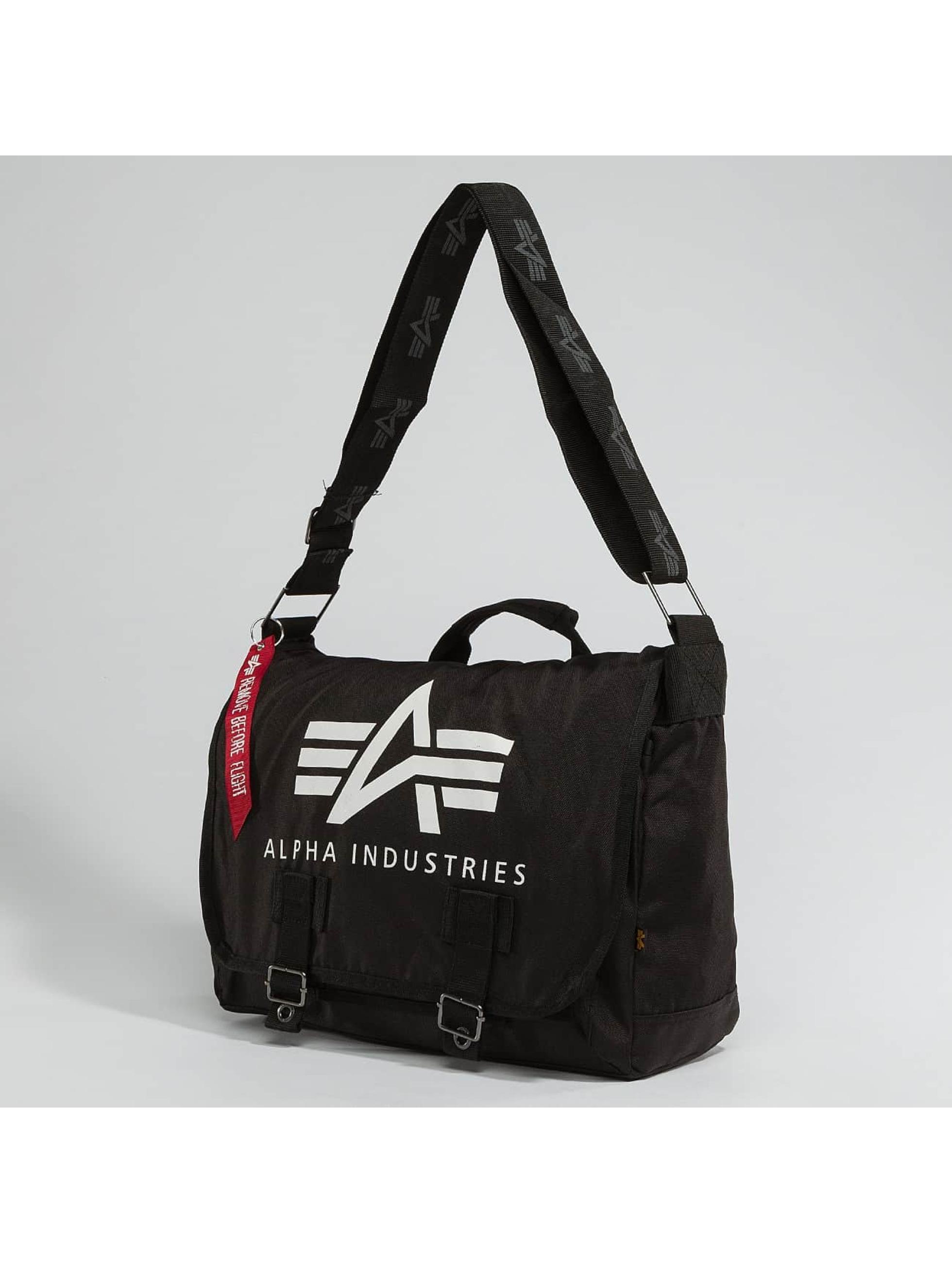Alpha Industries Vesker Big A Oxford Courier svart
